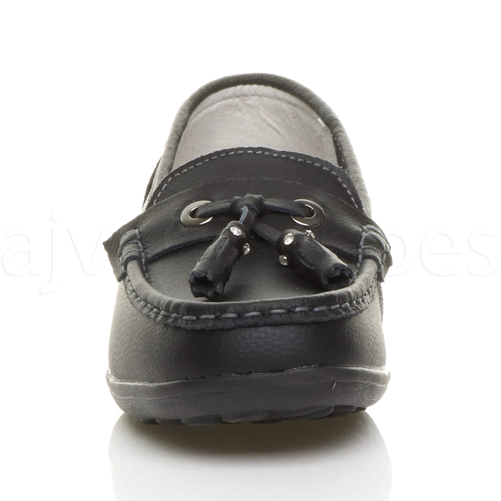 WOMENS-LADIES-LOW-HEEL-WEDGE-LEATHER-TASSEL-LOAFERS-COMFORT-MOCCASINS-SHOES-SIZE thumbnail 15