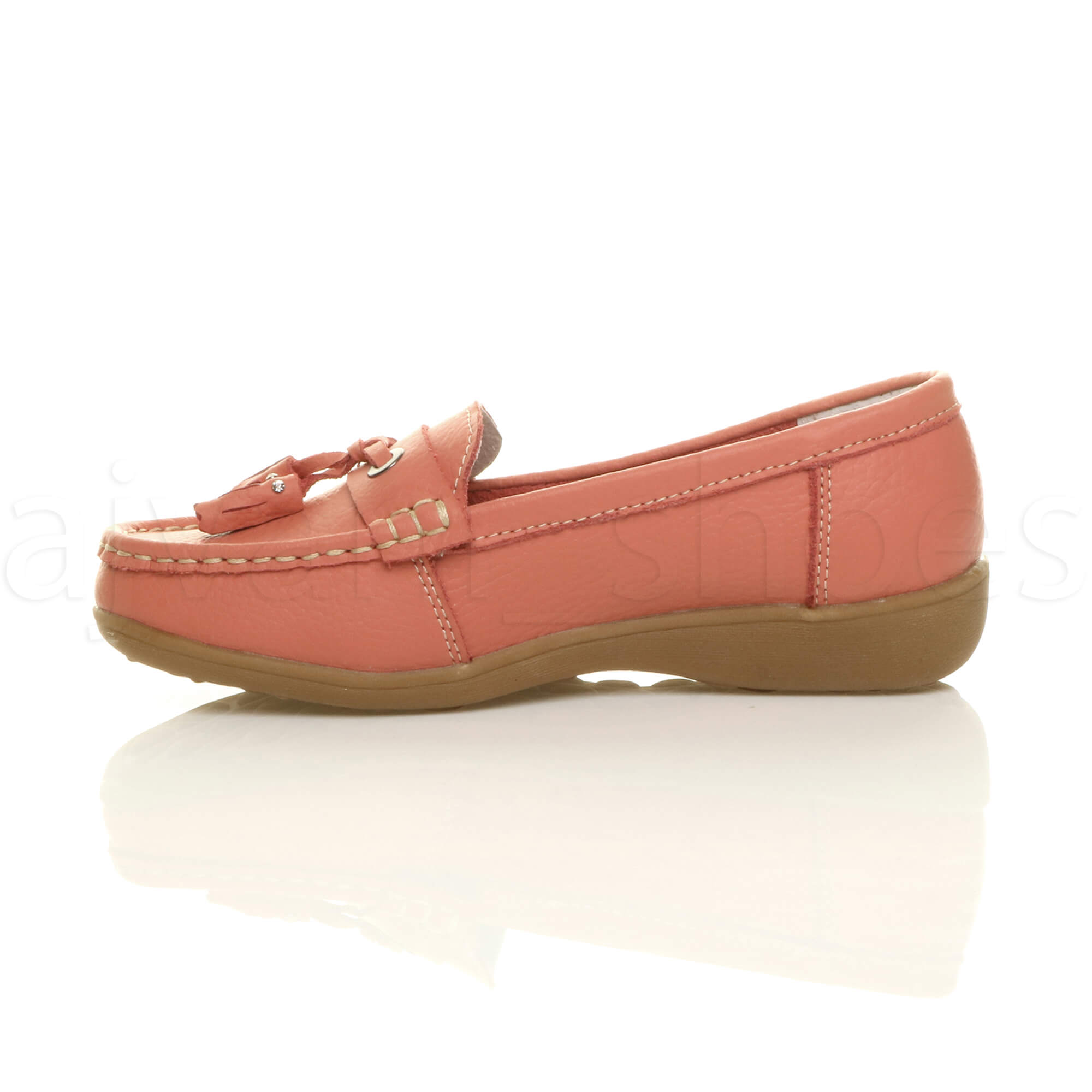 WOMENS-LADIES-LOW-HEEL-WEDGE-LEATHER-TASSEL-LOAFERS-COMFORT-MOCCASINS-SHOES-SIZE thumbnail 28