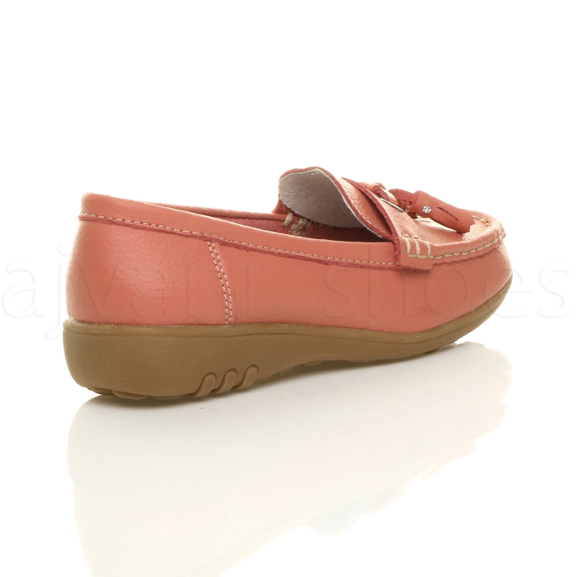 WOMENS-LADIES-LOW-HEEL-WEDGE-LEATHER-TASSEL-LOAFERS-COMFORT-MOCCASINS-SHOES-SIZE thumbnail 29