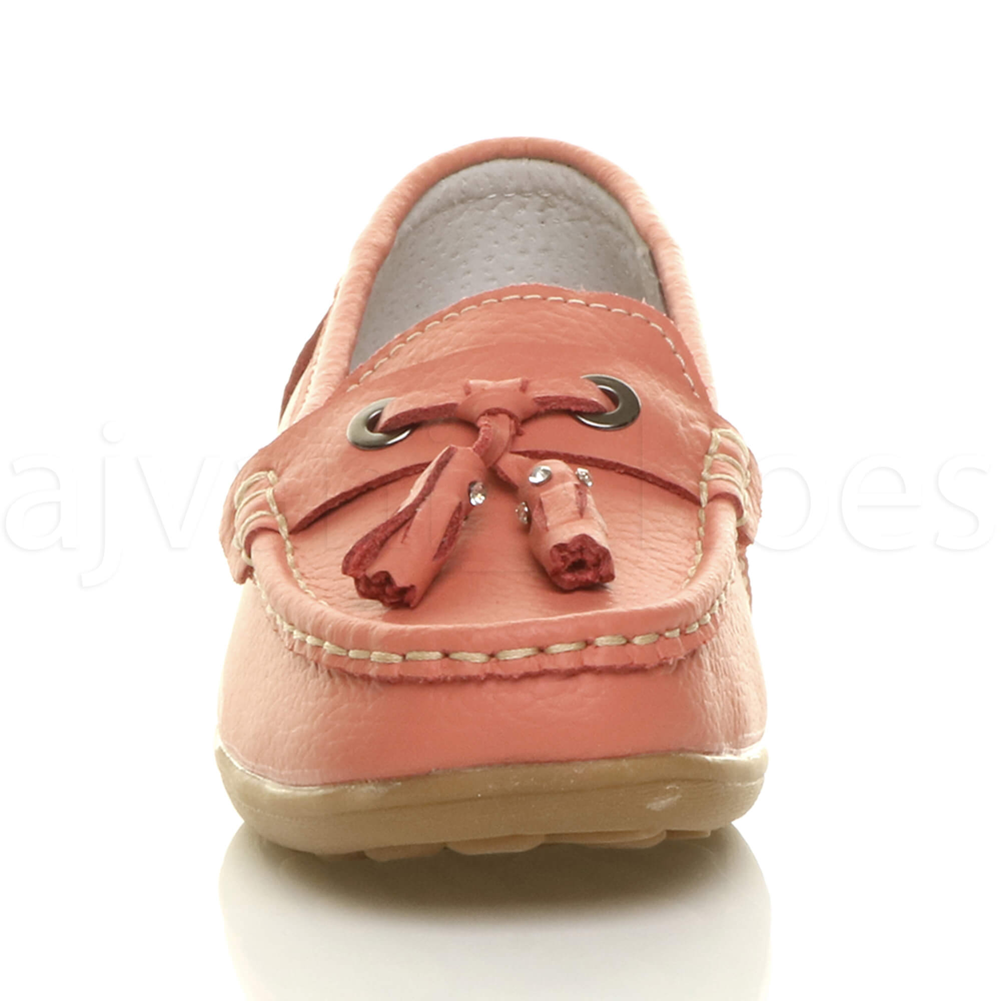 WOMENS-LADIES-LOW-HEEL-WEDGE-LEATHER-TASSEL-LOAFERS-COMFORT-MOCCASINS-SHOES-SIZE thumbnail 31