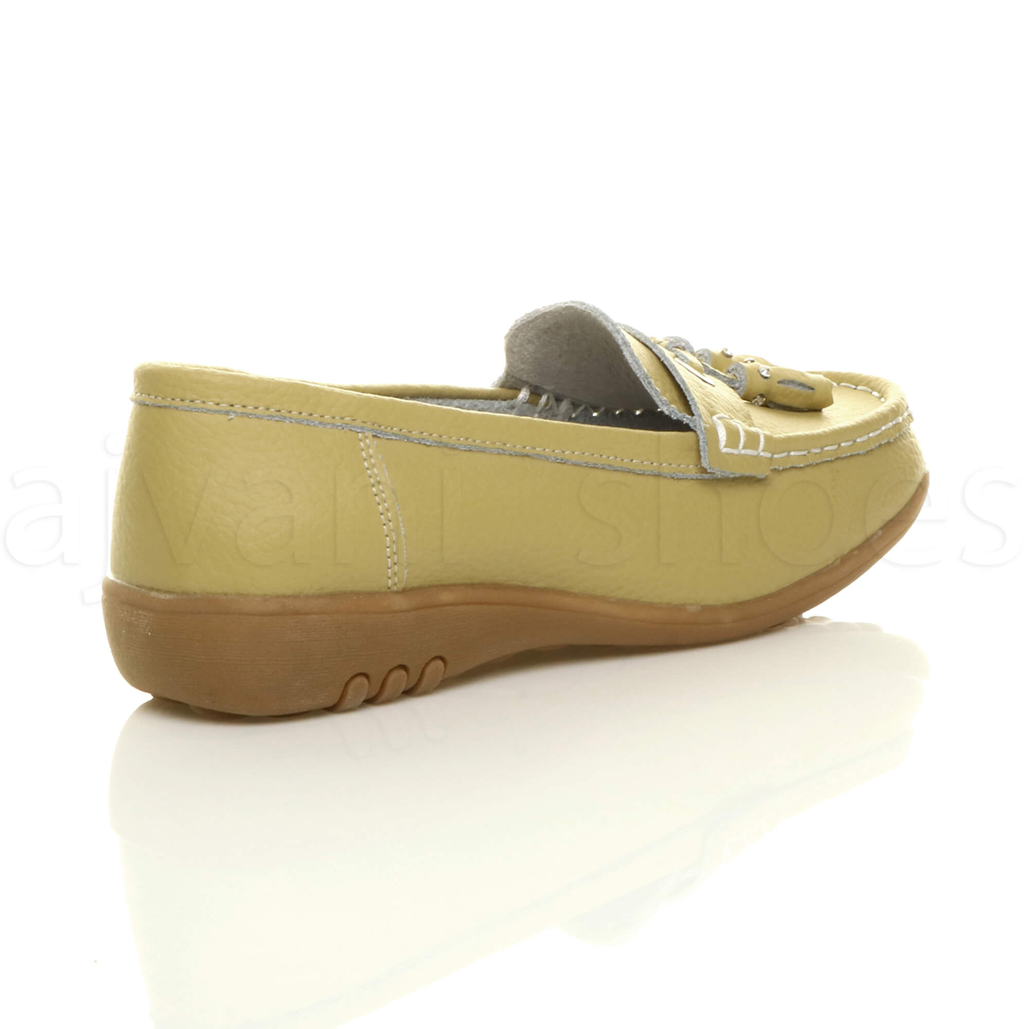 WOMENS-LADIES-LOW-HEEL-WEDGE-LEATHER-TASSEL-LOAFERS-COMFORT-MOCCASINS-SHOES-SIZE thumbnail 37