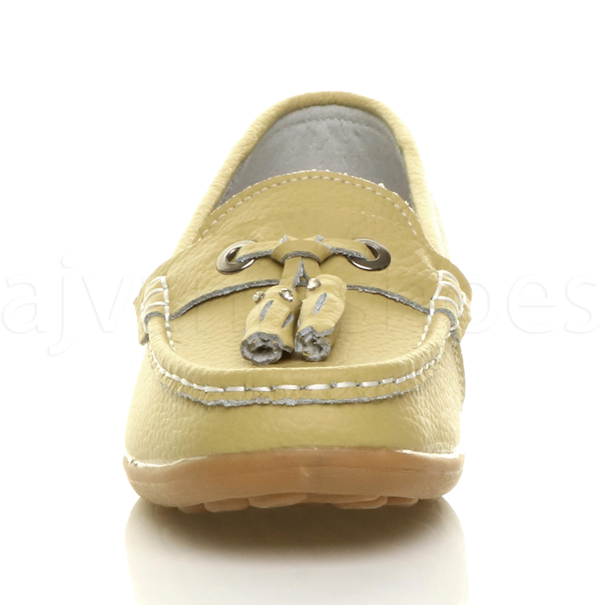 WOMENS-LADIES-LOW-HEEL-WEDGE-LEATHER-TASSEL-LOAFERS-COMFORT-MOCCASINS-SHOES-SIZE thumbnail 39