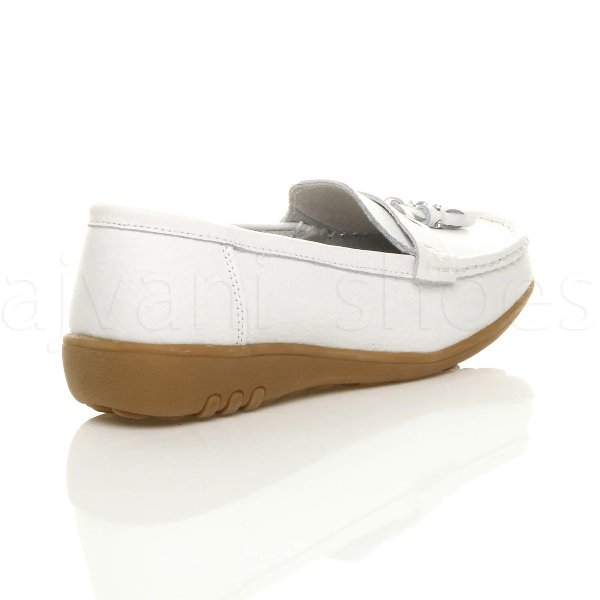 WOMENS-LADIES-LOW-HEEL-WEDGE-LEATHER-TASSEL-LOAFERS-COMFORT-MOCCASINS-SHOES-SIZE thumbnail 45