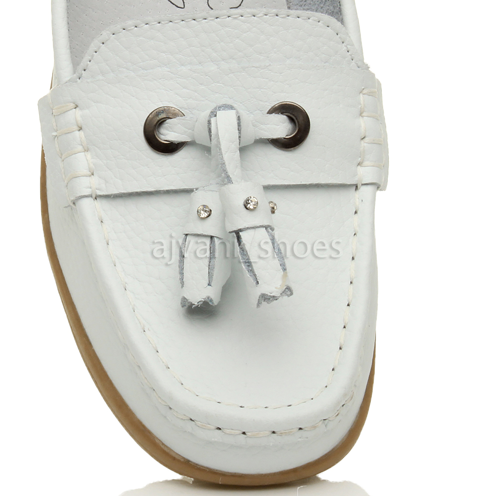 WOMENS-LADIES-LOW-HEEL-WEDGE-LEATHER-TASSEL-LOAFERS-COMFORT-MOCCASINS-SHOES-SIZE thumbnail 46