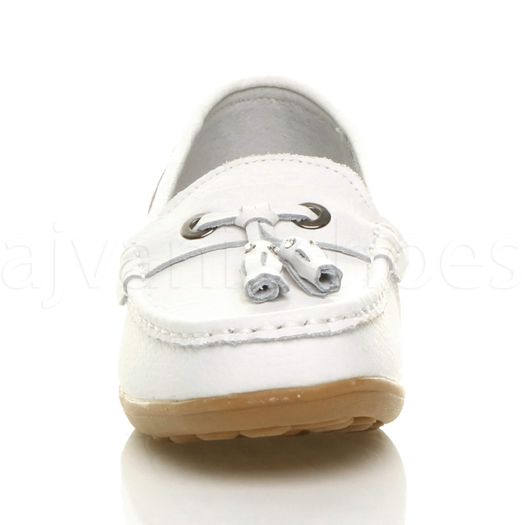 WOMENS-LADIES-LOW-HEEL-WEDGE-LEATHER-TASSEL-LOAFERS-COMFORT-MOCCASINS-SHOES-SIZE thumbnail 47