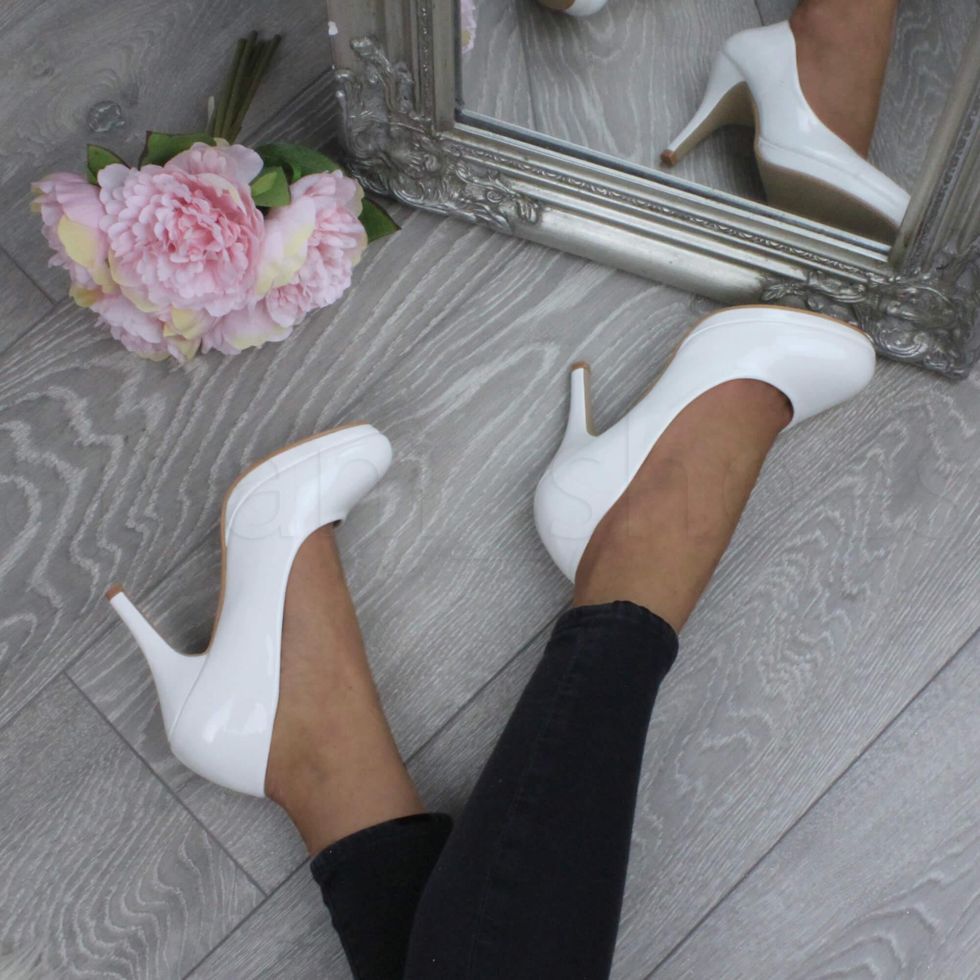 Donna-tacco-alto-medio-lavoro-sera-festa-semplice-decollete-scarpe-taglia