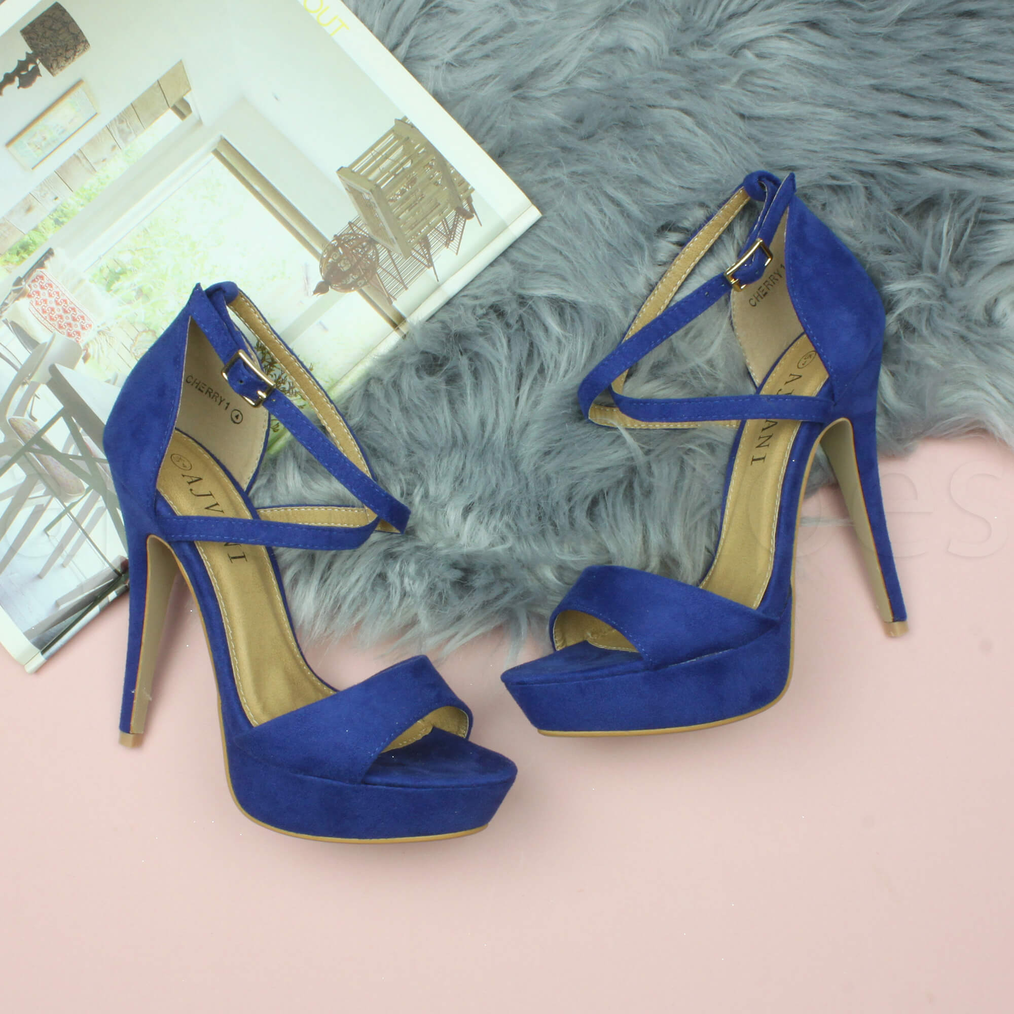 WOMENS-LADIES-PLATFORM-HIGH-HEEL-PEEP-TOE-CROSS-OVER-STRAPPY-SANDALS-SHOES-SIZE thumbnail 34