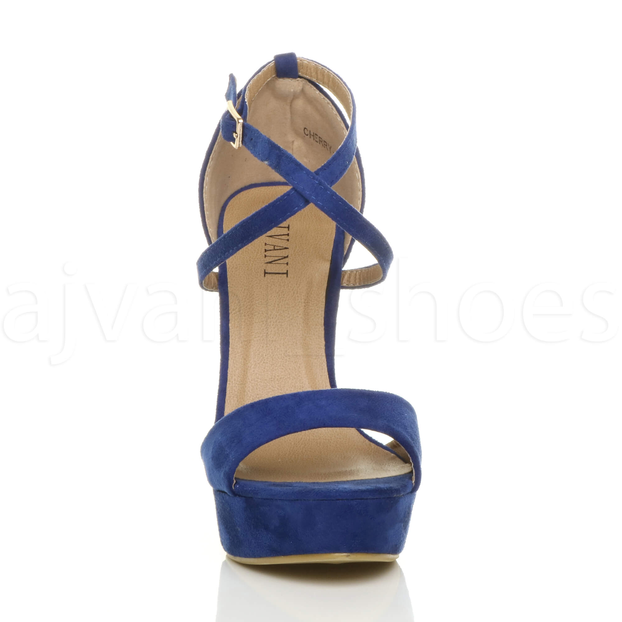 WOMENS-LADIES-PLATFORM-HIGH-HEEL-PEEP-TOE-CROSS-OVER-STRAPPY-SANDALS-SHOES-SIZE thumbnail 35