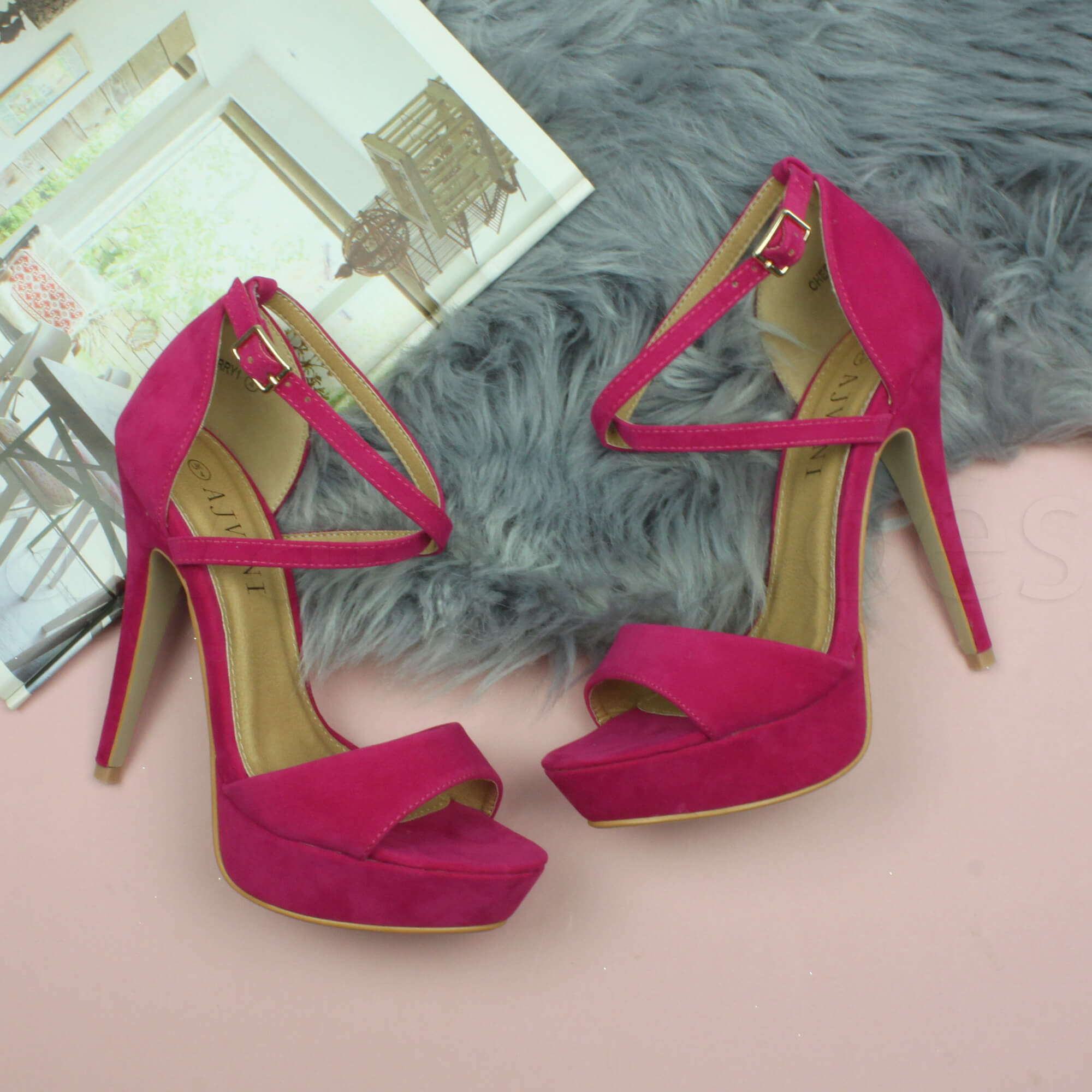 WOMENS-LADIES-PLATFORM-HIGH-HEEL-PEEP-TOE-CROSS-OVER-STRAPPY-SANDALS-SHOES-SIZE thumbnail 39