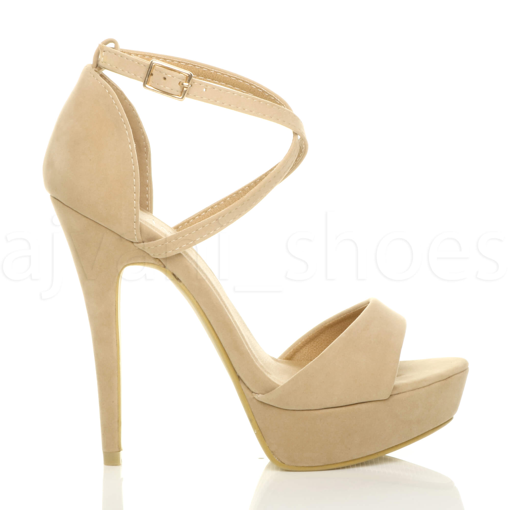 WOMENS-LADIES-PLATFORM-HIGH-HEEL-PEEP-TOE-CROSS-OVER-STRAPPY-SANDALS-SHOES-SIZE thumbnail 70