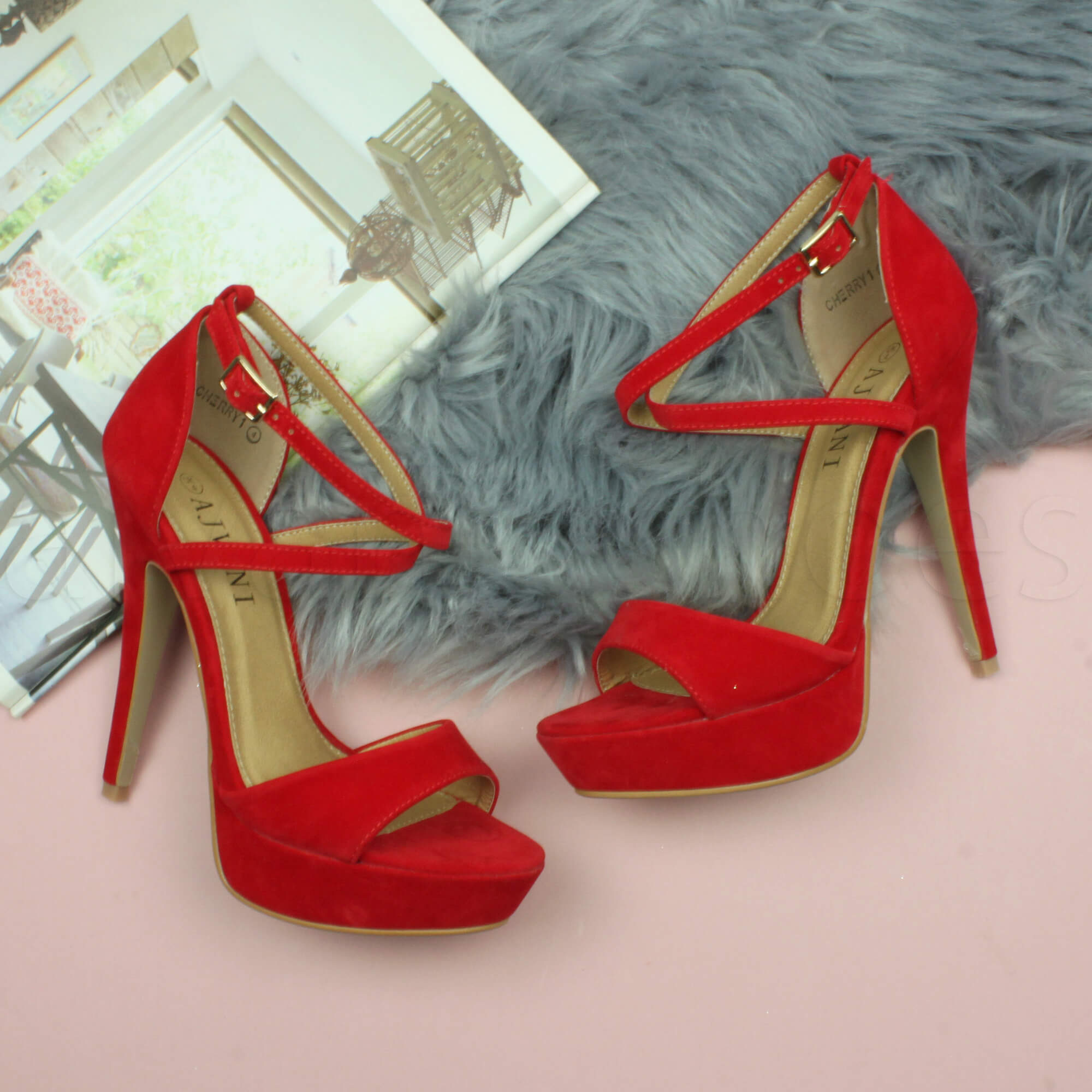WOMENS-LADIES-PLATFORM-HIGH-HEEL-PEEP-TOE-CROSS-OVER-STRAPPY-SANDALS-SHOES-SIZE thumbnail 103