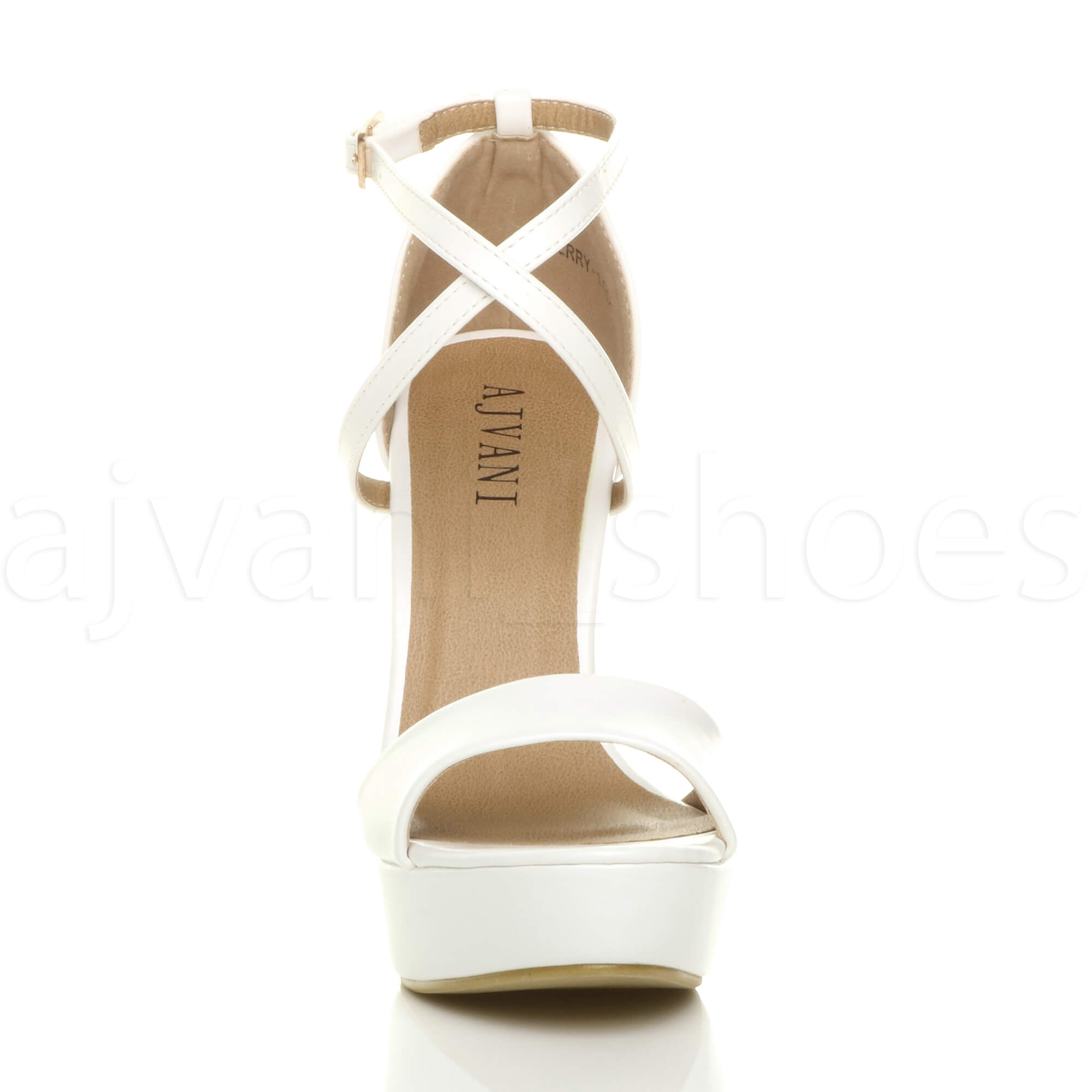 WOMENS-LADIES-PLATFORM-HIGH-HEEL-PEEP-TOE-CROSS-OVER-STRAPPY-SANDALS-SHOES-SIZE thumbnail 146