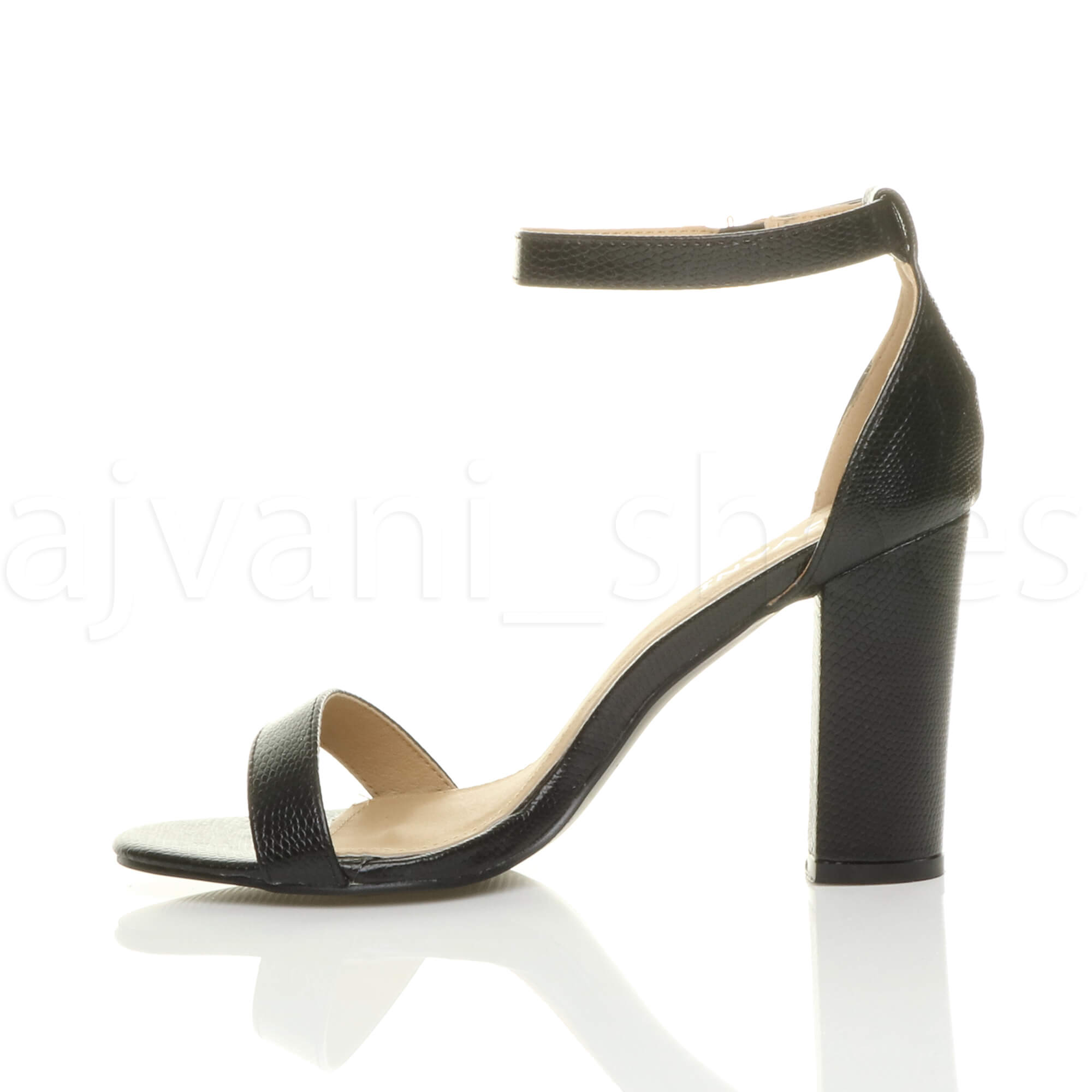 WOMENS-LADIES-BLOCK-HIGH-HEEL-ANKLE-STRAP-PEEP-TOE-STRAPPY-SANDALS-SHOES-SIZE thumbnail 11