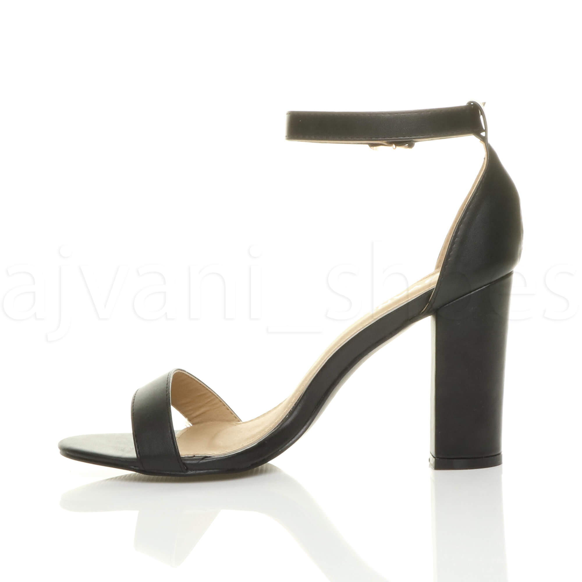 WOMENS-LADIES-BLOCK-HIGH-HEEL-ANKLE-STRAP-PEEP-TOE-STRAPPY-SANDALS-SHOES-SIZE thumbnail 18
