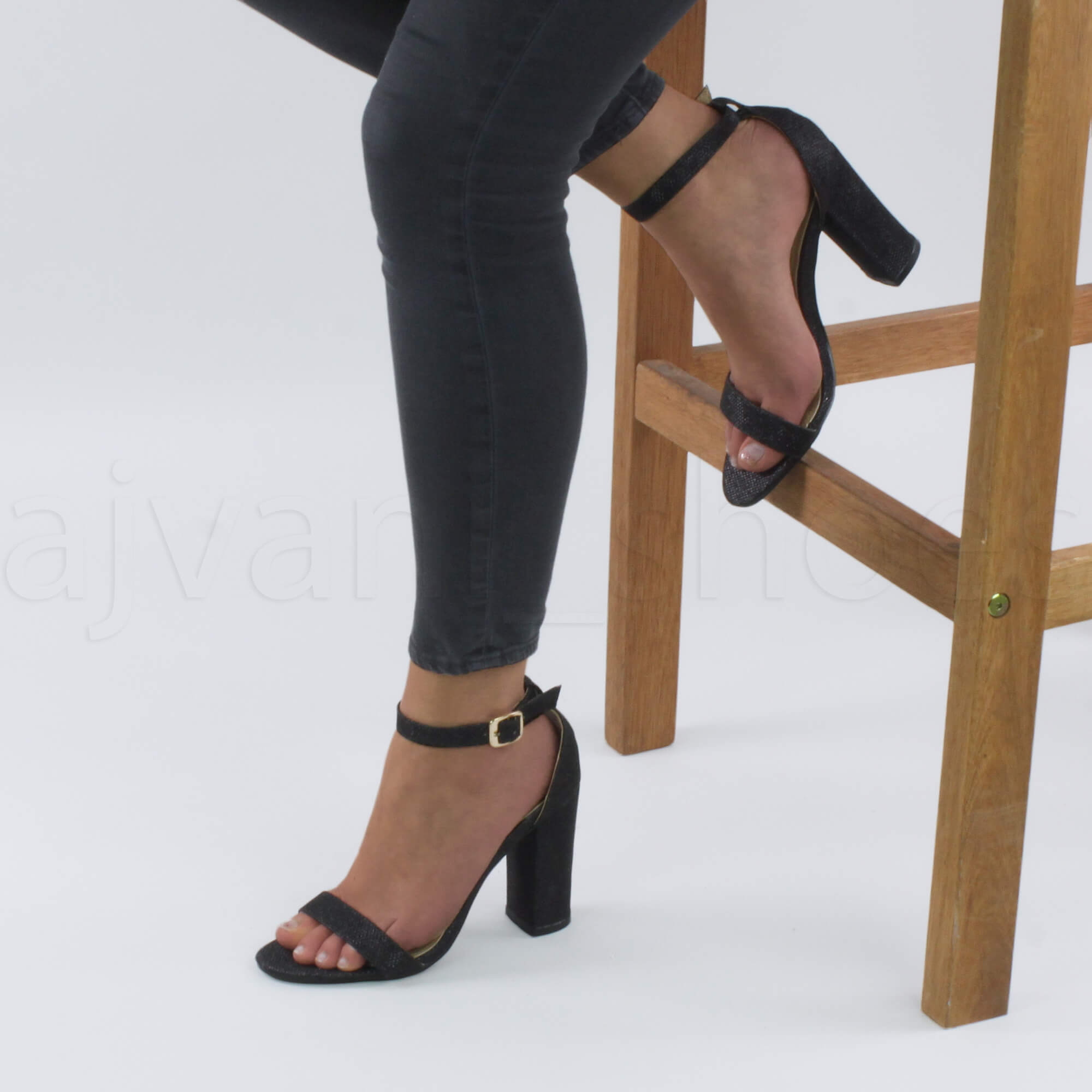 WOMENS-LADIES-BLOCK-HIGH-HEEL-ANKLE-STRAP-PEEP-TOE-STRAPPY-SANDALS-SHOES-SIZE thumbnail 30