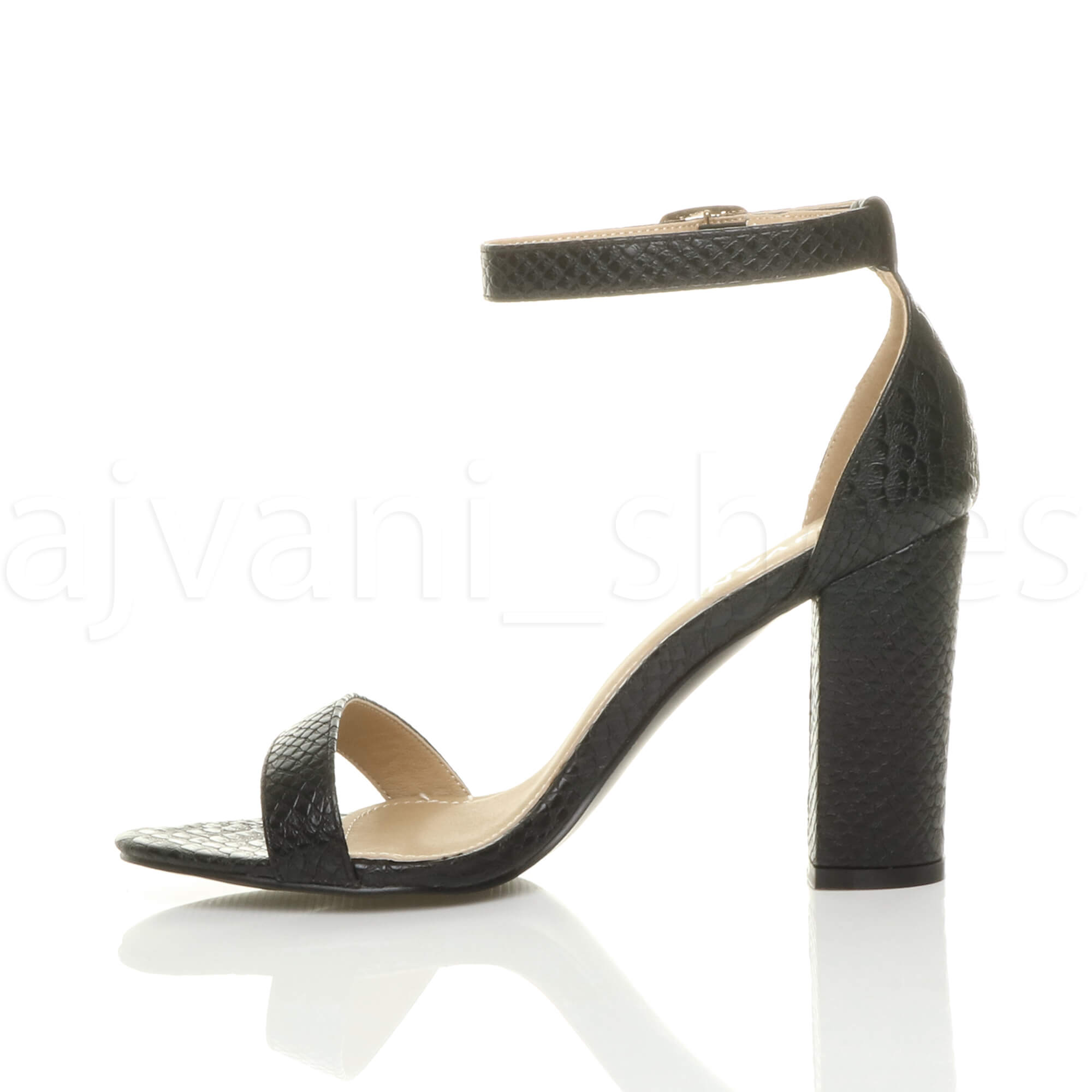 WOMENS-LADIES-BLOCK-HIGH-HEEL-ANKLE-STRAP-PEEP-TOE-STRAPPY-SANDALS-SHOES-SIZE thumbnail 32