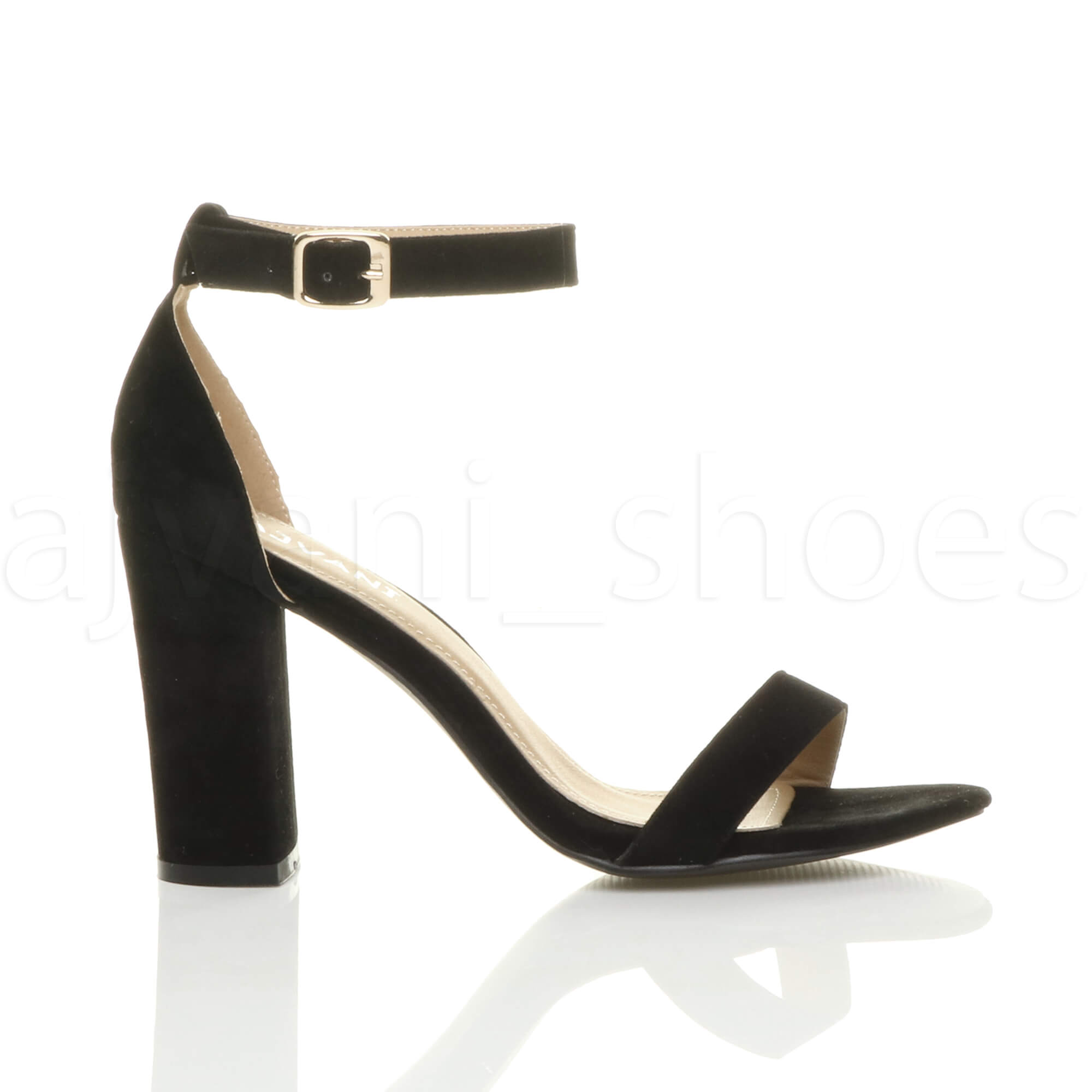 WOMENS-LADIES-BLOCK-HIGH-HEEL-ANKLE-STRAP-PEEP-TOE-STRAPPY-SANDALS-SHOES-SIZE thumbnail 38