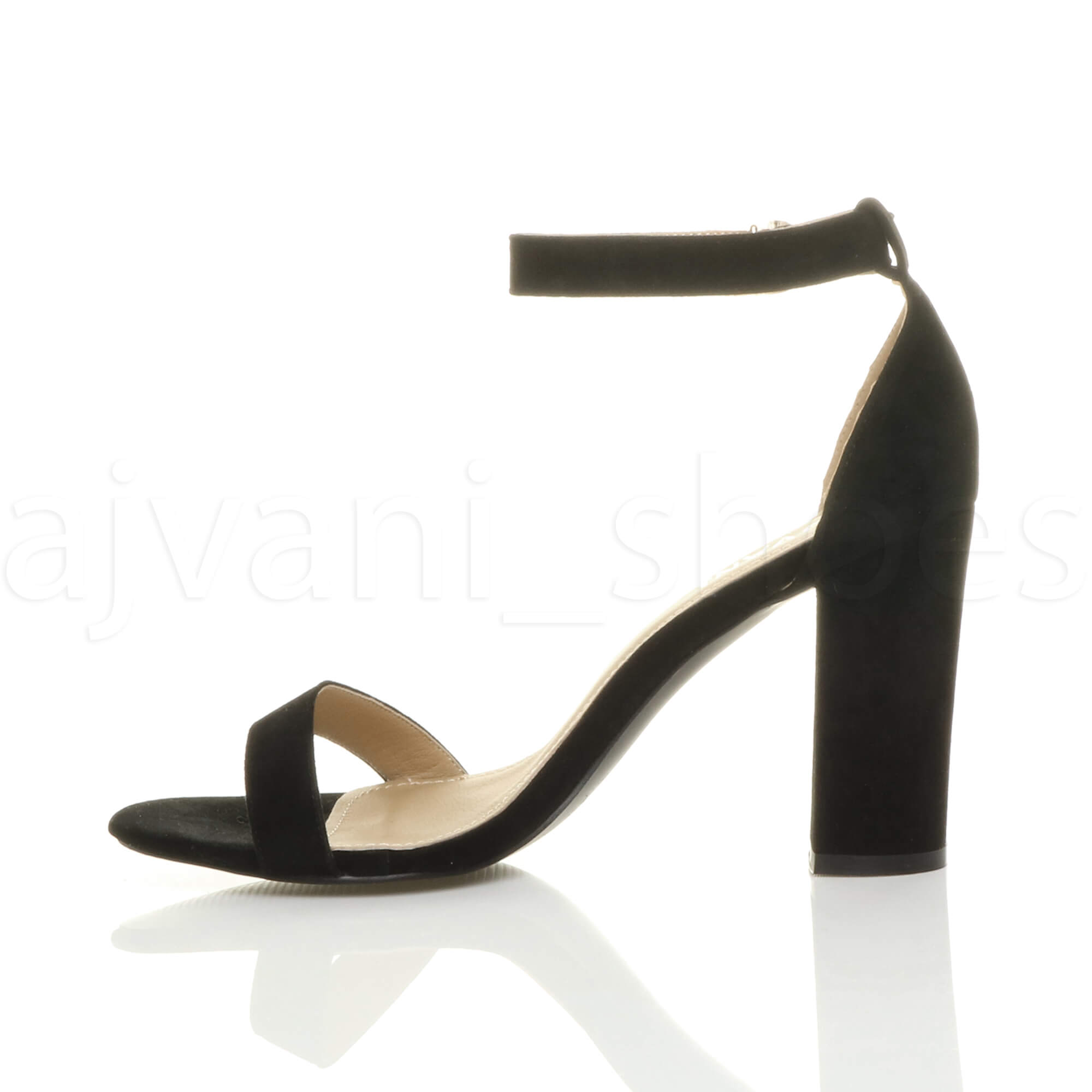 WOMENS-LADIES-BLOCK-HIGH-HEEL-ANKLE-STRAP-PEEP-TOE-STRAPPY-SANDALS-SHOES-SIZE thumbnail 39