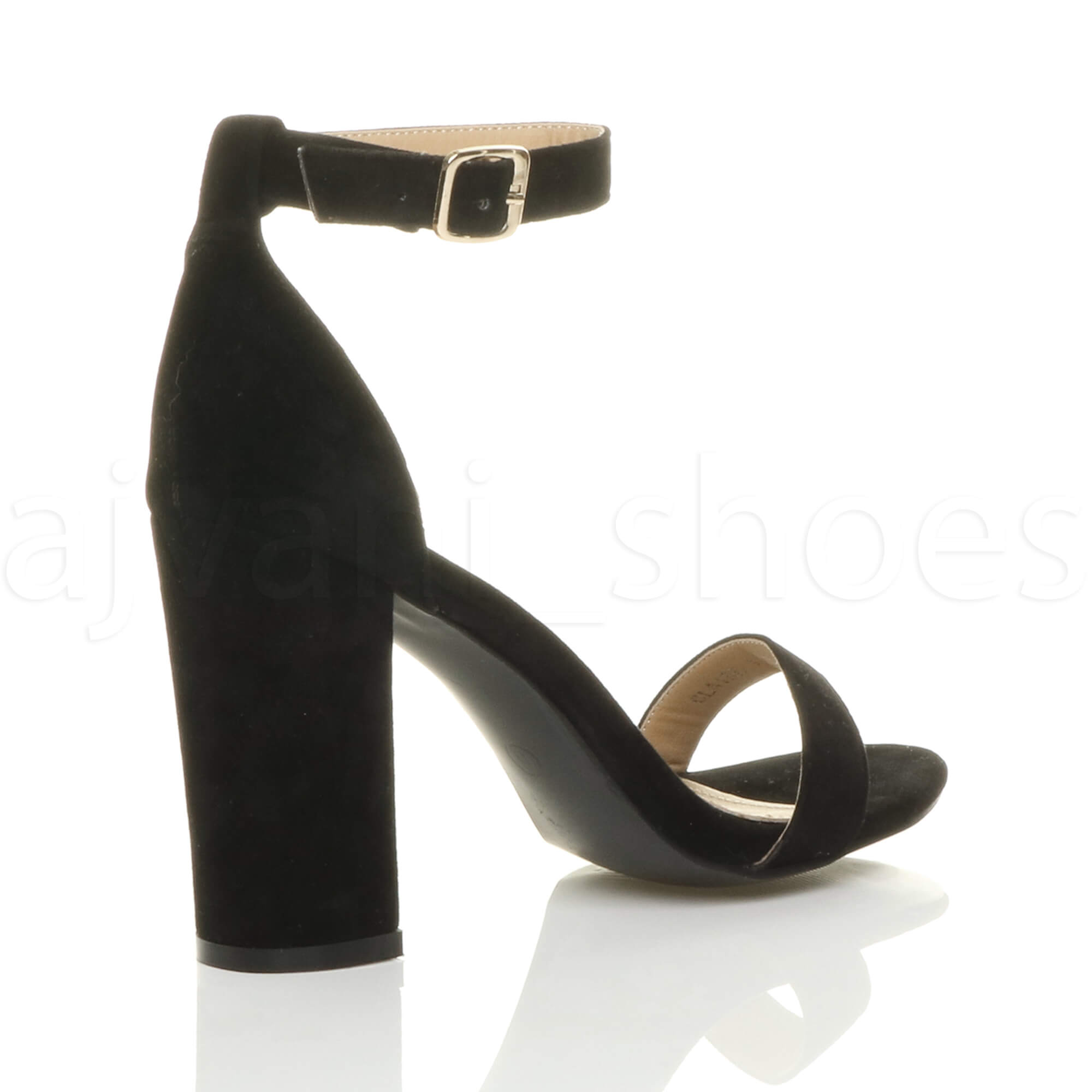 WOMENS-LADIES-BLOCK-HIGH-HEEL-ANKLE-STRAP-PEEP-TOE-STRAPPY-SANDALS-SHOES-SIZE thumbnail 40