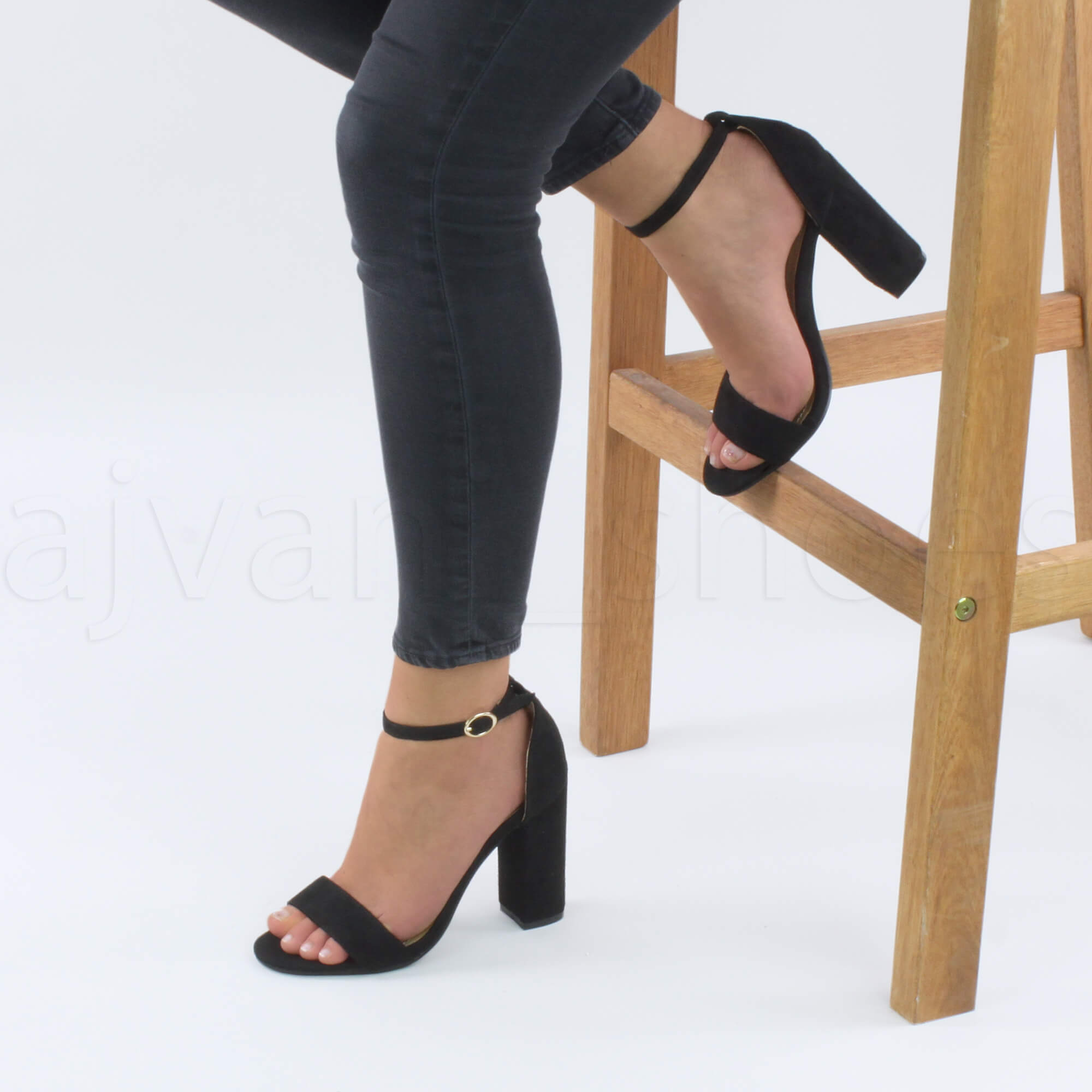 WOMENS-LADIES-BLOCK-HIGH-HEEL-ANKLE-STRAP-PEEP-TOE-STRAPPY-SANDALS-SHOES-SIZE thumbnail 46