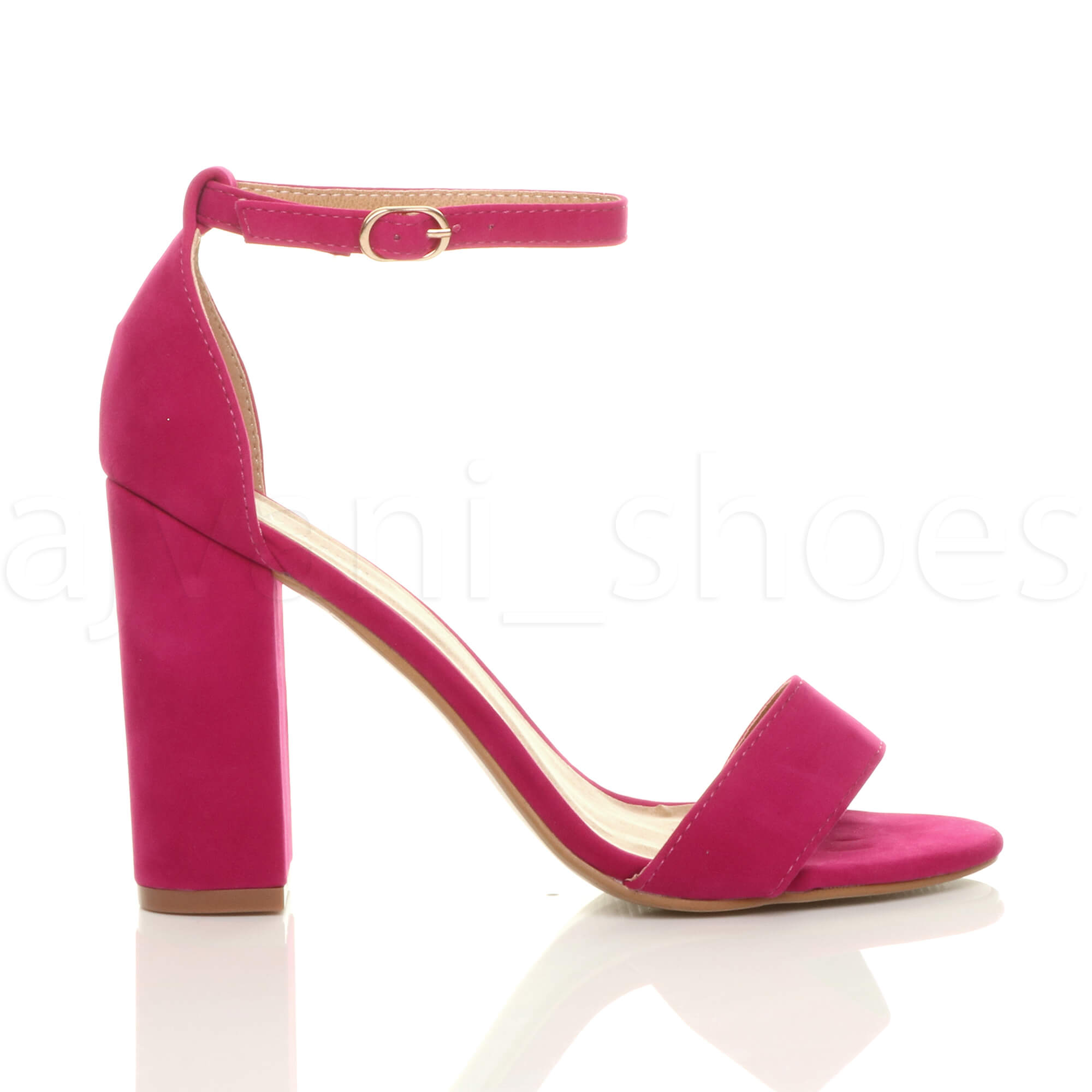 WOMENS-LADIES-BLOCK-HIGH-HEEL-ANKLE-STRAP-PEEP-TOE-STRAPPY-SANDALS-SHOES-SIZE thumbnail 60