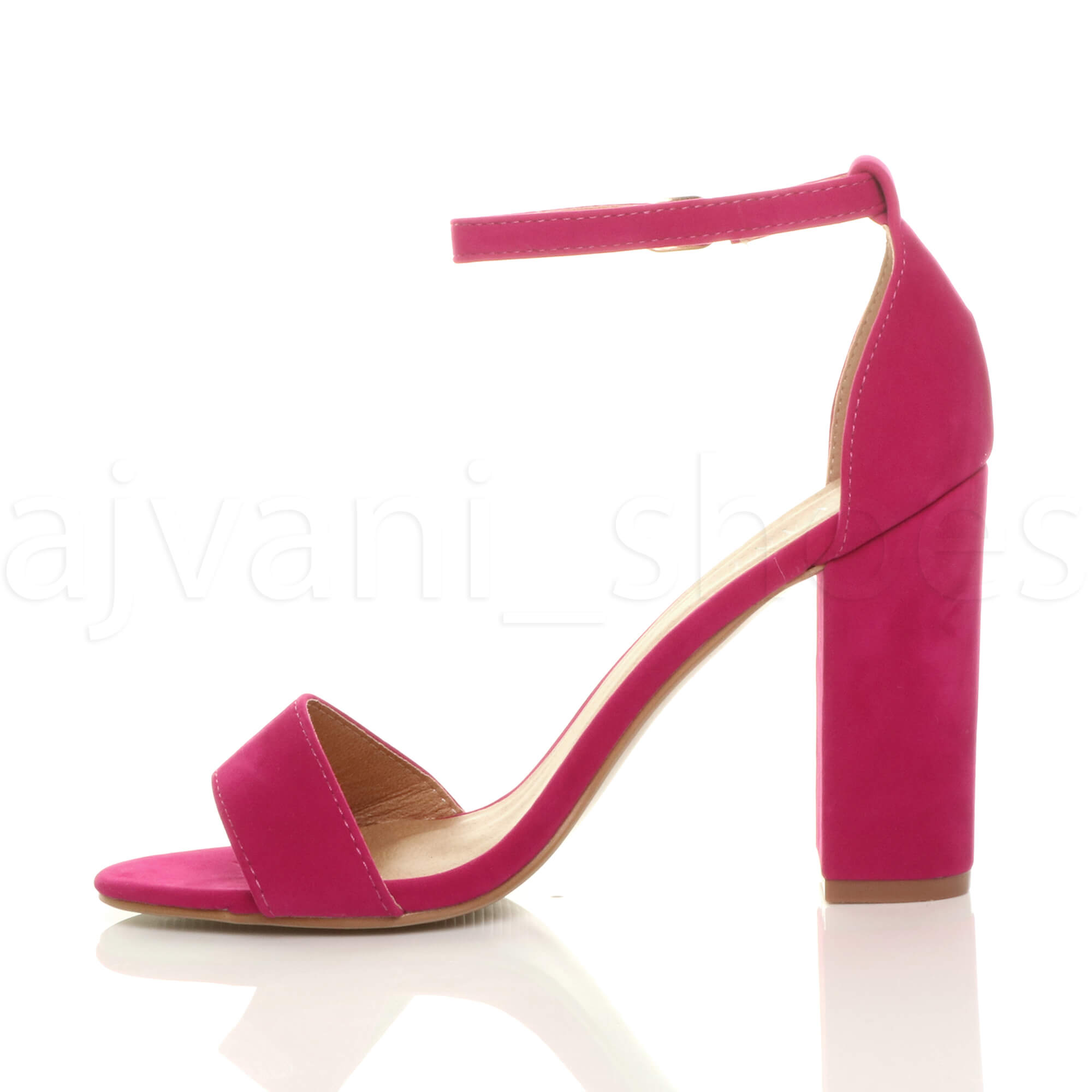 WOMENS-LADIES-BLOCK-HIGH-HEEL-ANKLE-STRAP-PEEP-TOE-STRAPPY-SANDALS-SHOES-SIZE thumbnail 61