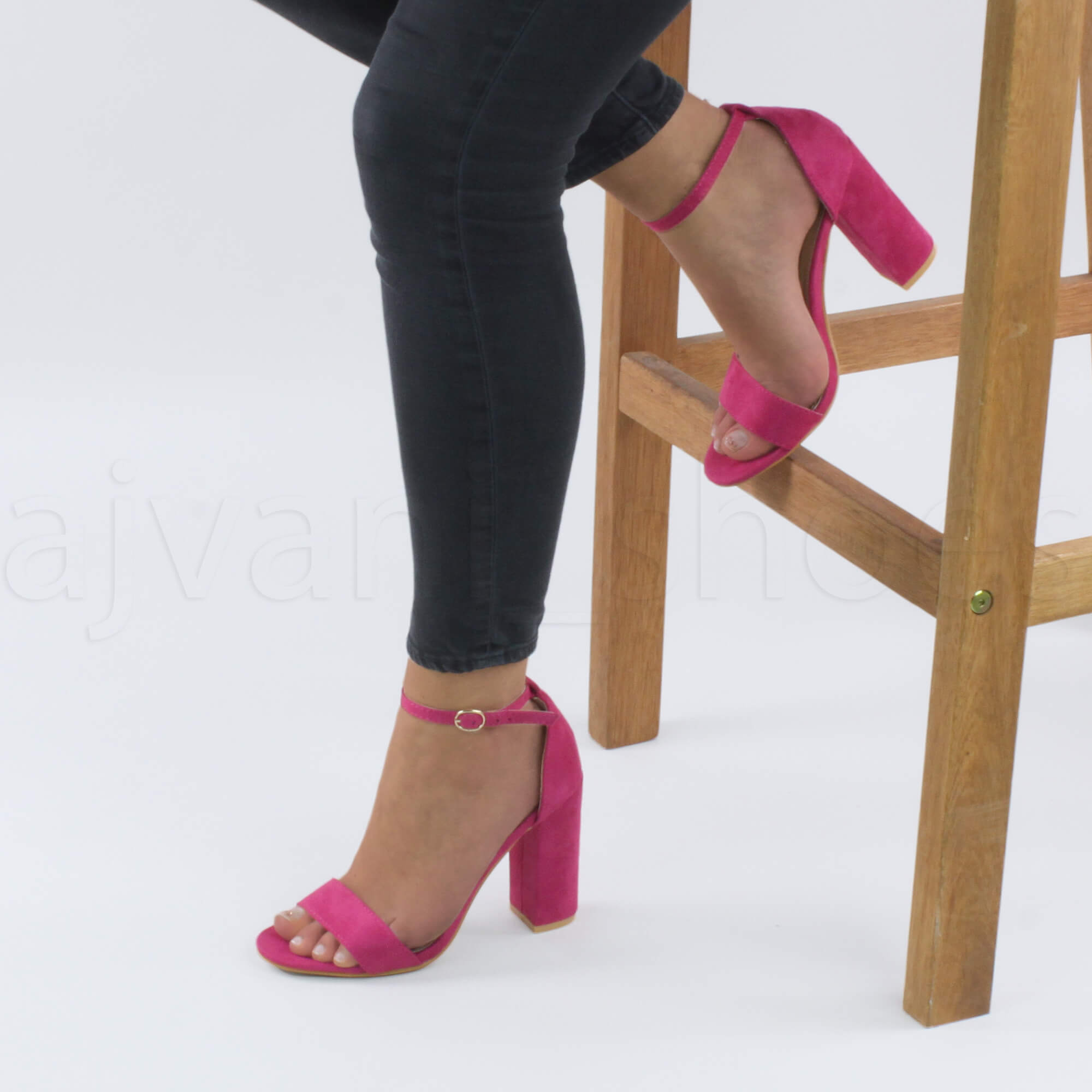 WOMENS-LADIES-BLOCK-HIGH-HEEL-ANKLE-STRAP-PEEP-TOE-STRAPPY-SANDALS-SHOES-SIZE thumbnail 62