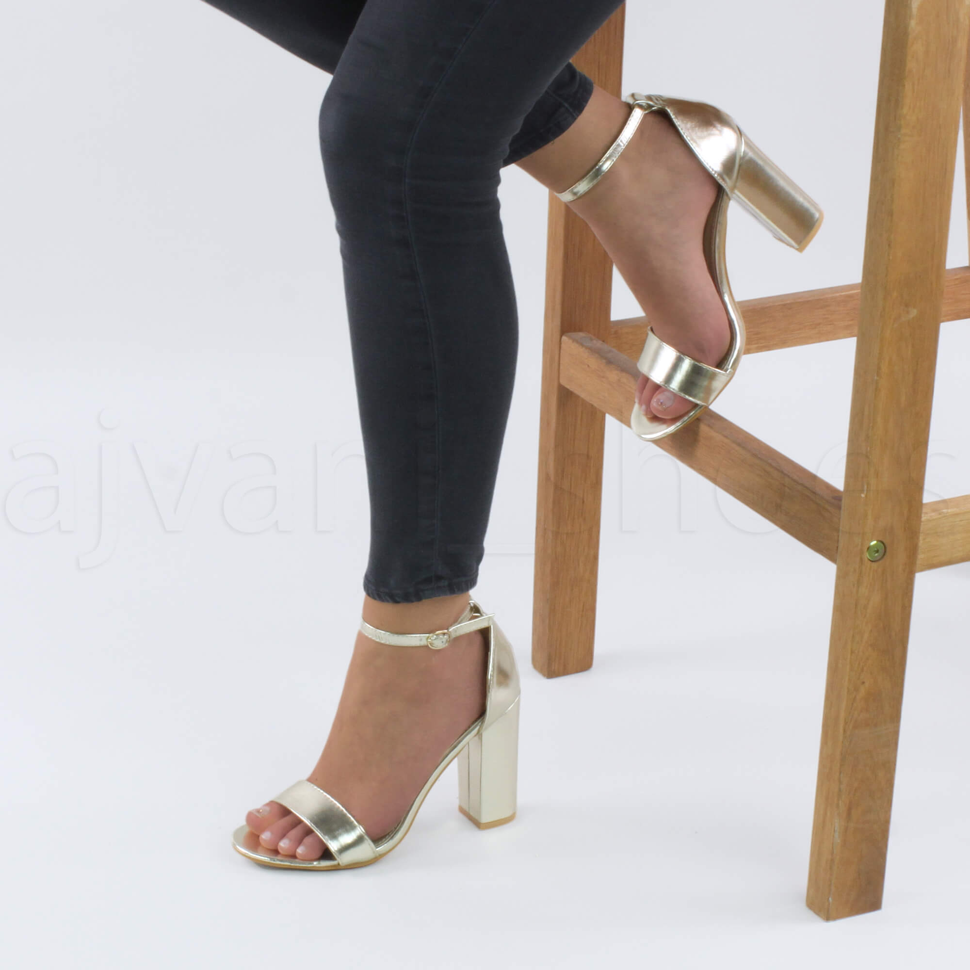 WOMENS-LADIES-BLOCK-HIGH-HEEL-ANKLE-STRAP-PEEP-TOE-STRAPPY-SANDALS-SHOES-SIZE thumbnail 70