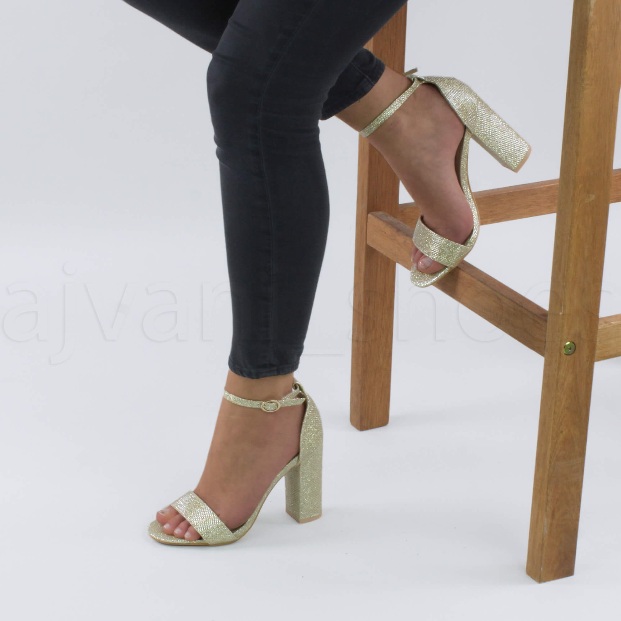 WOMENS-LADIES-BLOCK-HIGH-HEEL-ANKLE-STRAP-PEEP-TOE-STRAPPY-SANDALS-SHOES-SIZE thumbnail 78