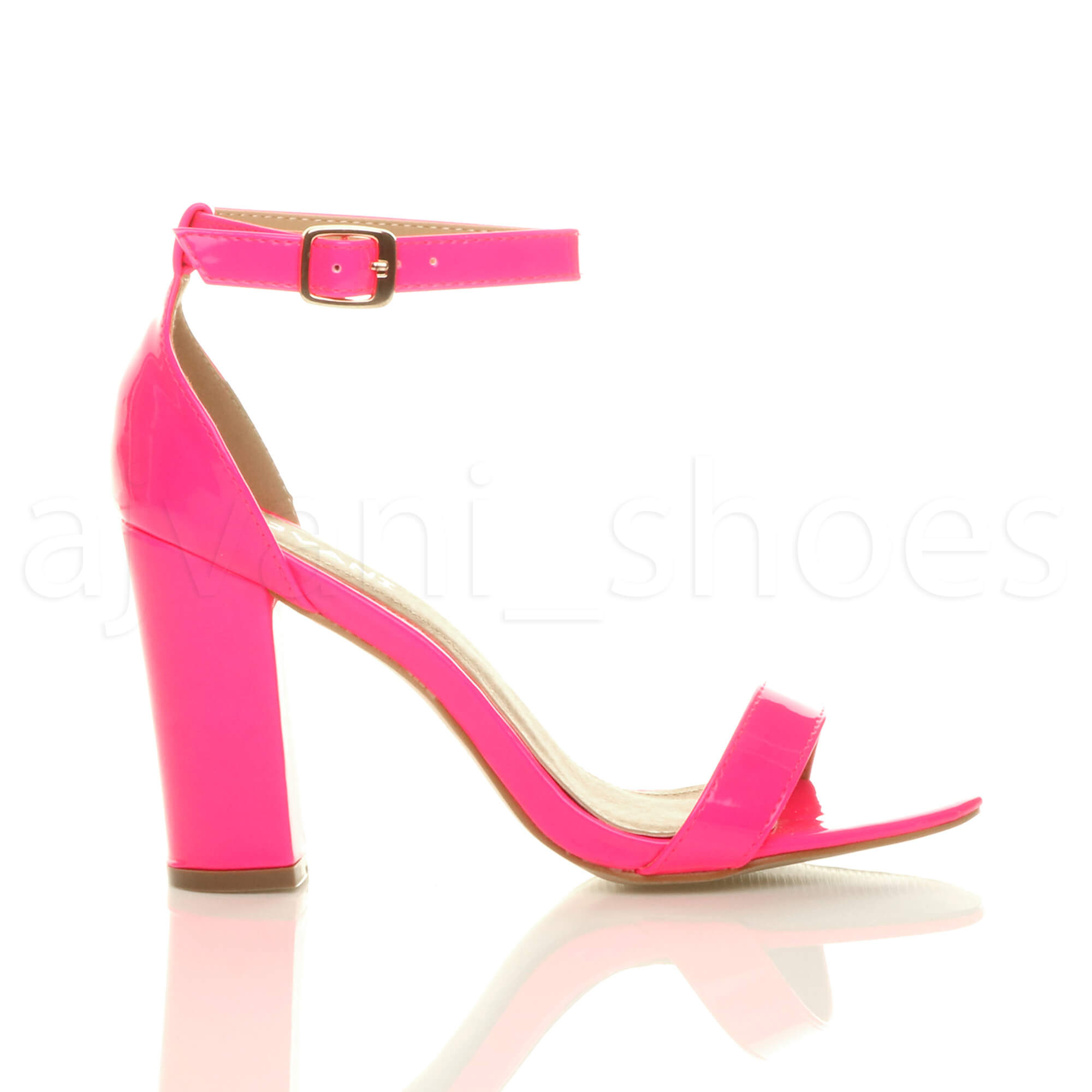 WOMENS-LADIES-BLOCK-HIGH-HEEL-ANKLE-STRAP-PEEP-TOE-STRAPPY-SANDALS-SHOES-SIZE thumbnail 89