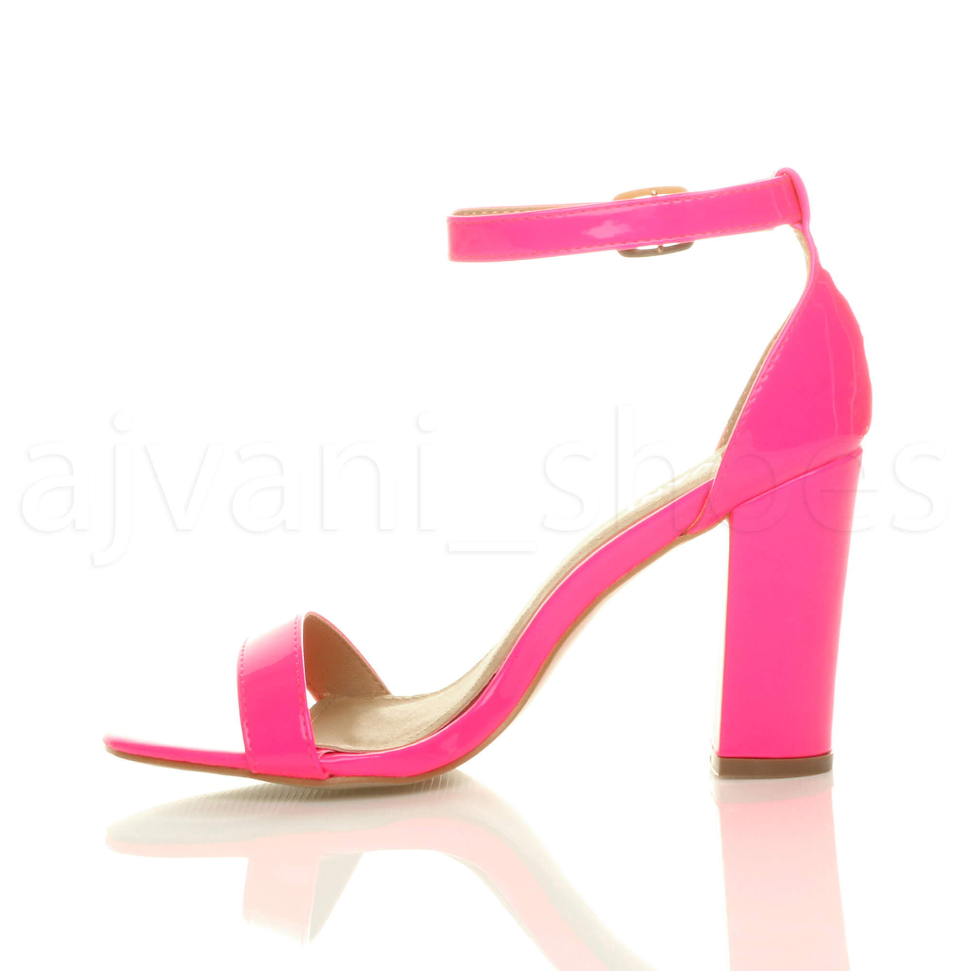 WOMENS-LADIES-BLOCK-HIGH-HEEL-ANKLE-STRAP-PEEP-TOE-STRAPPY-SANDALS-SHOES-SIZE thumbnail 90