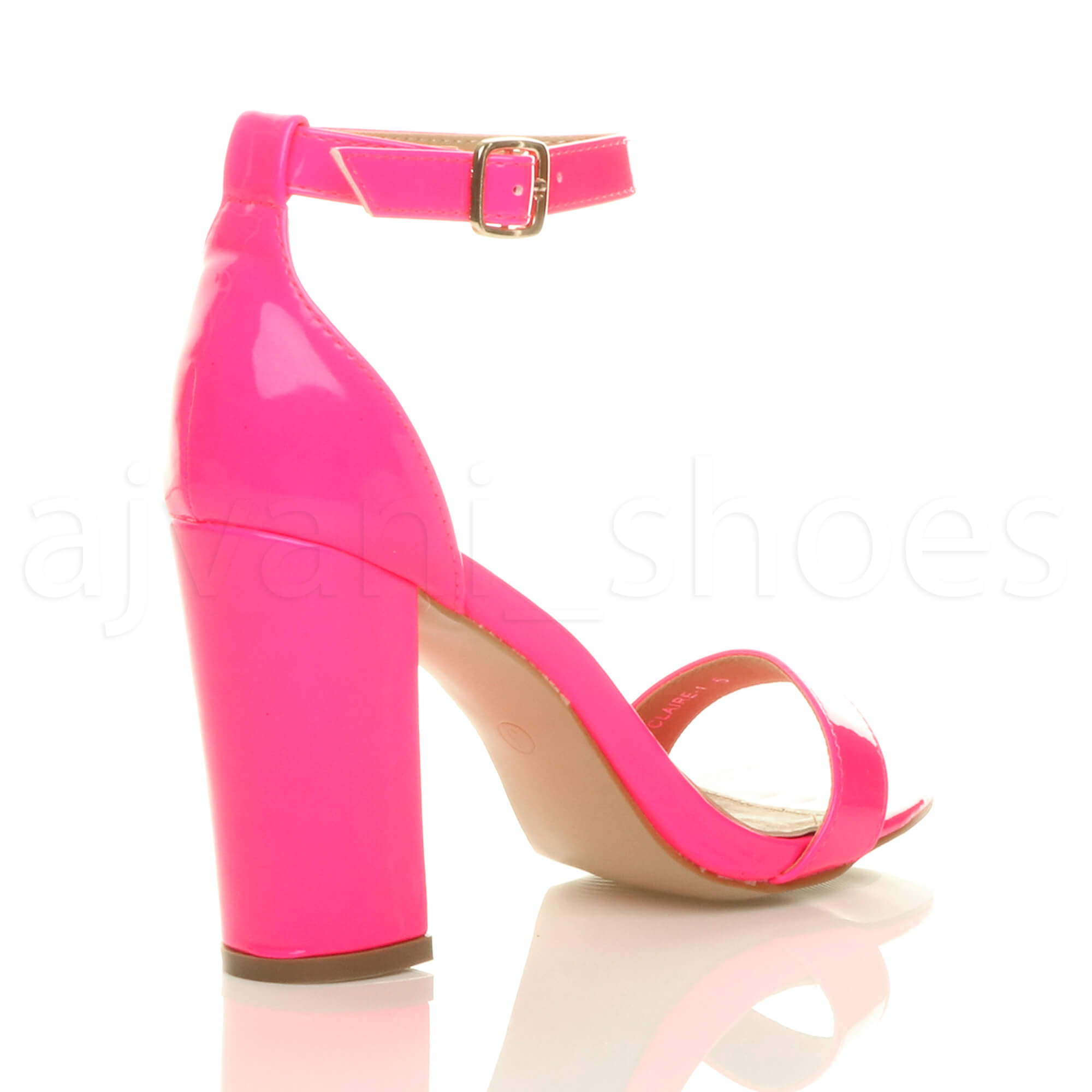 WOMENS-LADIES-BLOCK-HIGH-HEEL-ANKLE-STRAP-PEEP-TOE-STRAPPY-SANDALS-SHOES-SIZE thumbnail 91