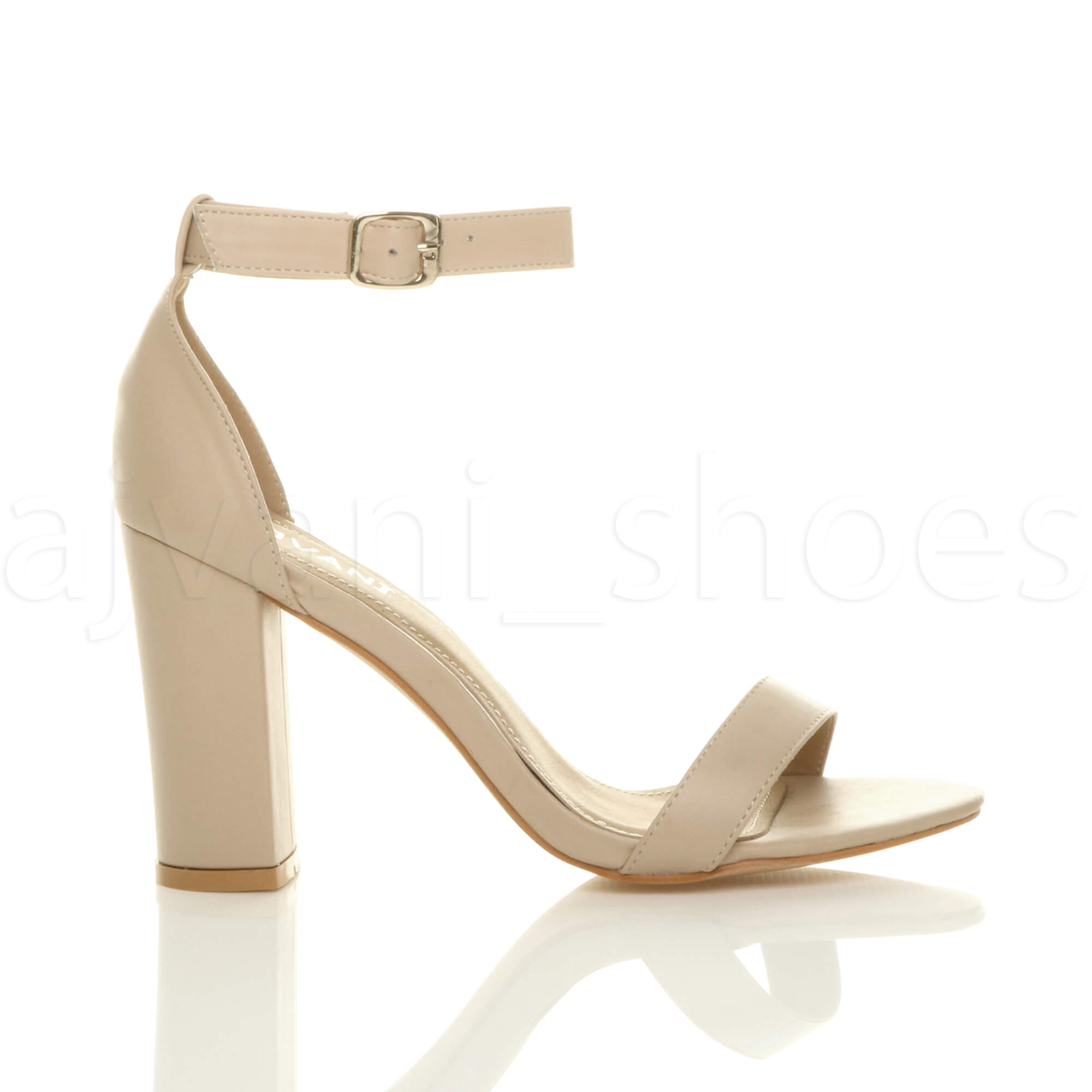 WOMENS-LADIES-BLOCK-HIGH-HEEL-ANKLE-STRAP-PEEP-TOE-STRAPPY-SANDALS-SHOES-SIZE thumbnail 96