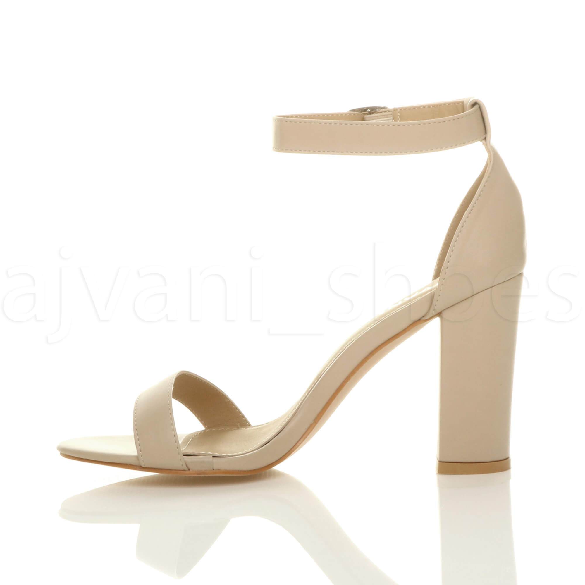 WOMENS-LADIES-BLOCK-HIGH-HEEL-ANKLE-STRAP-PEEP-TOE-STRAPPY-SANDALS-SHOES-SIZE thumbnail 97