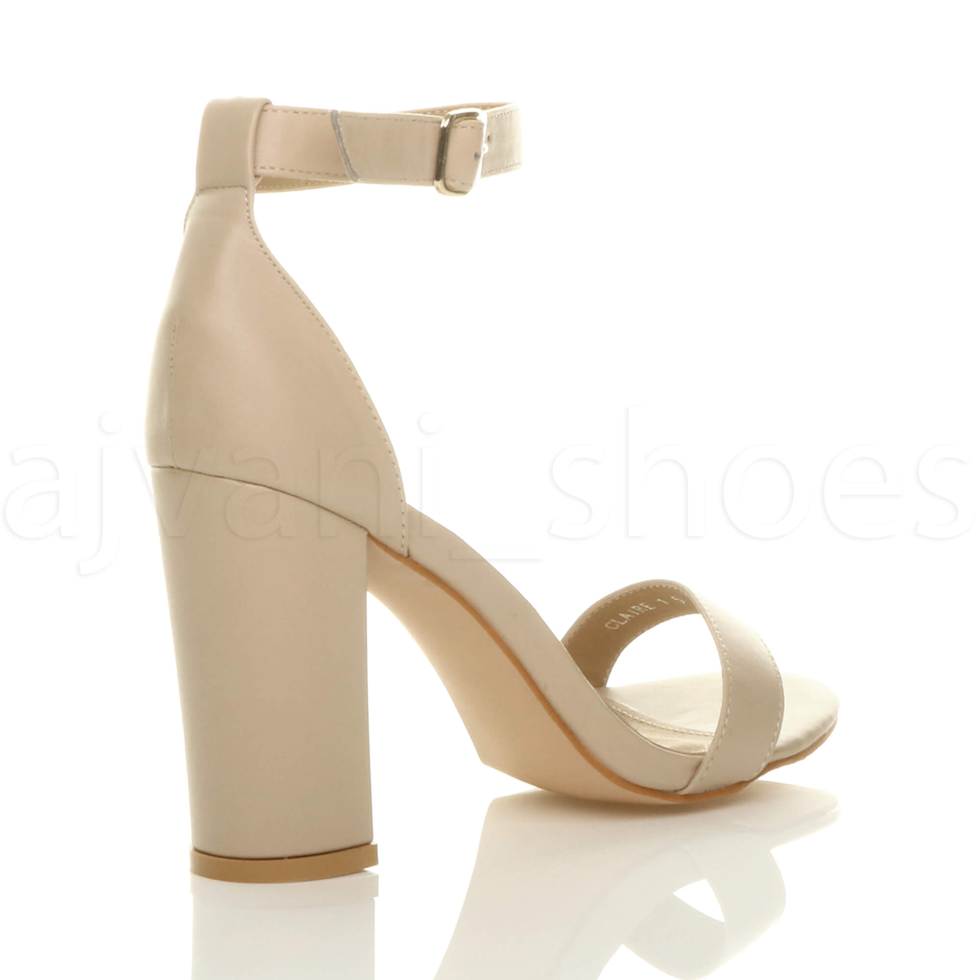 WOMENS-LADIES-BLOCK-HIGH-HEEL-ANKLE-STRAP-PEEP-TOE-STRAPPY-SANDALS-SHOES-SIZE thumbnail 98