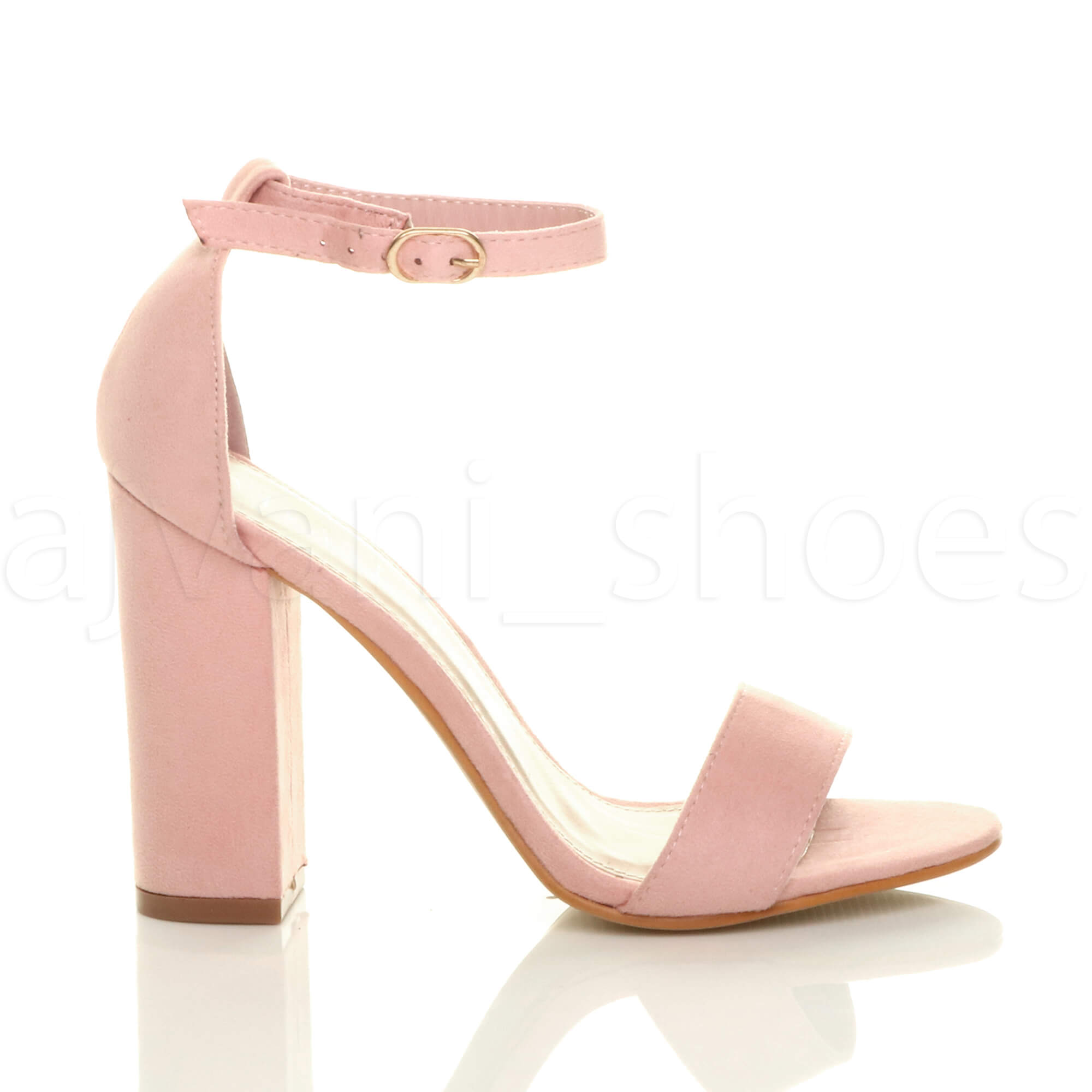 WOMENS-LADIES-BLOCK-HIGH-HEEL-ANKLE-STRAP-PEEP-TOE-STRAPPY-SANDALS-SHOES-SIZE thumbnail 103
