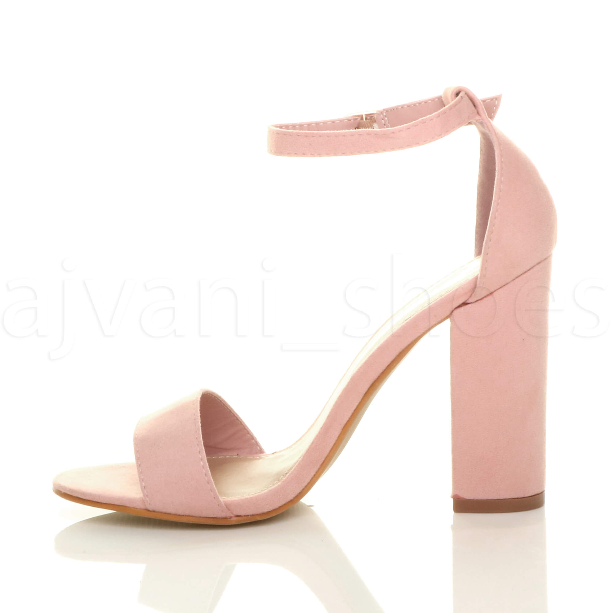 WOMENS-LADIES-BLOCK-HIGH-HEEL-ANKLE-STRAP-PEEP-TOE-STRAPPY-SANDALS-SHOES-SIZE thumbnail 104