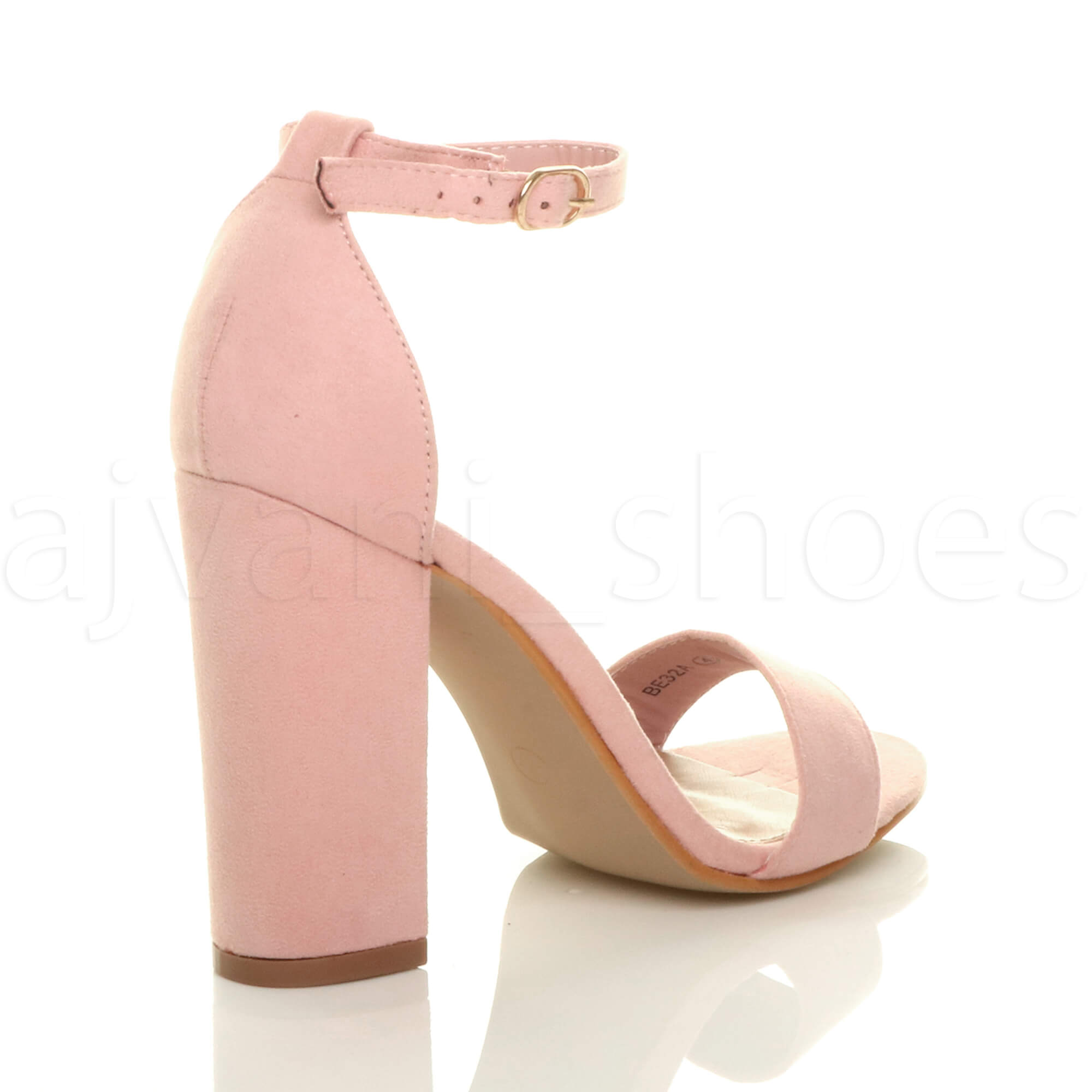 WOMENS-LADIES-BLOCK-HIGH-HEEL-ANKLE-STRAP-PEEP-TOE-STRAPPY-SANDALS-SHOES-SIZE thumbnail 105