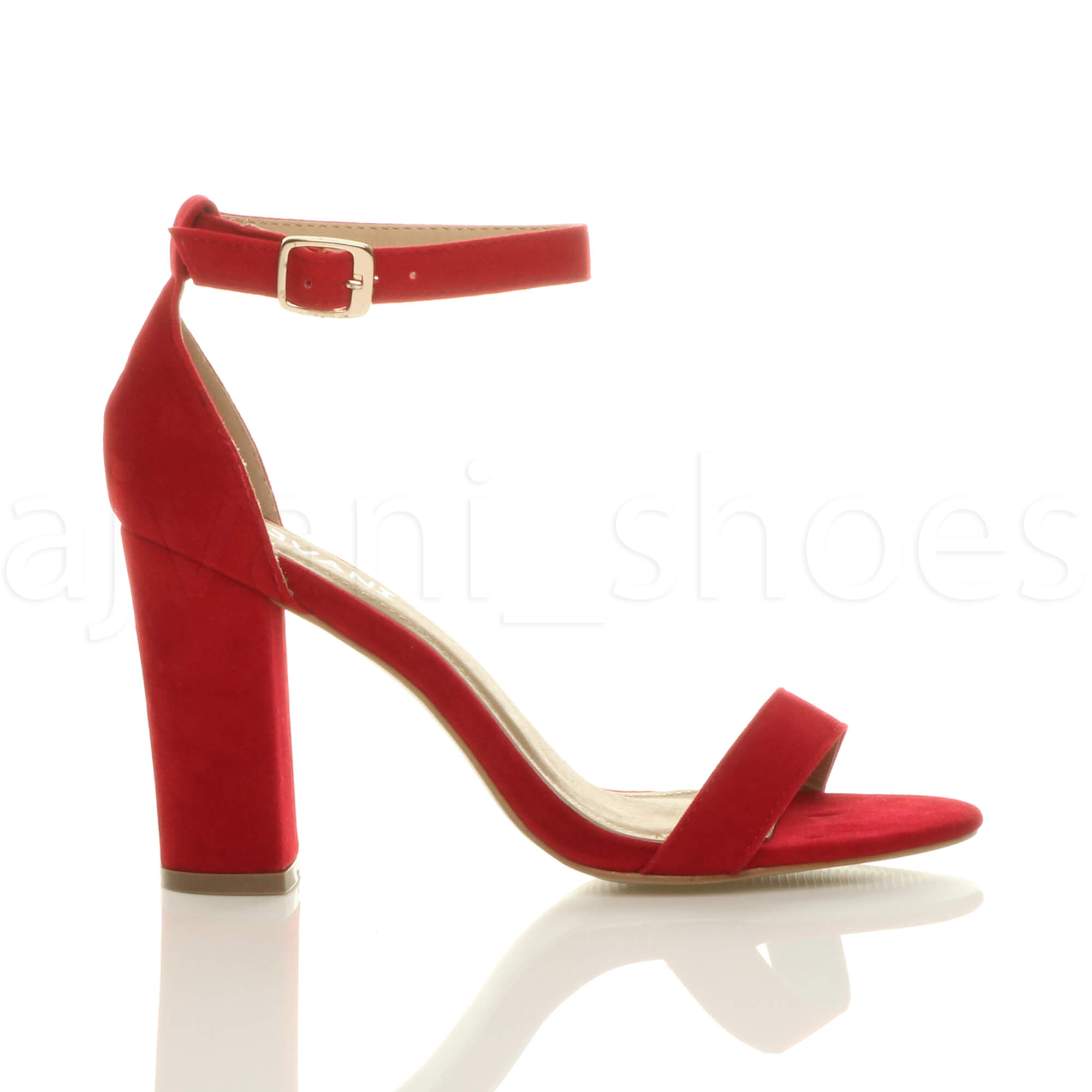 WOMENS-LADIES-BLOCK-HIGH-HEEL-ANKLE-STRAP-PEEP-TOE-STRAPPY-SANDALS-SHOES-SIZE thumbnail 117