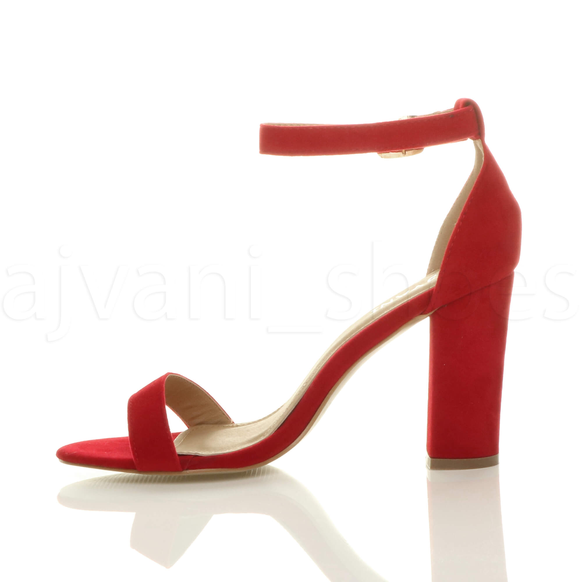 WOMENS-LADIES-BLOCK-HIGH-HEEL-ANKLE-STRAP-PEEP-TOE-STRAPPY-SANDALS-SHOES-SIZE thumbnail 118