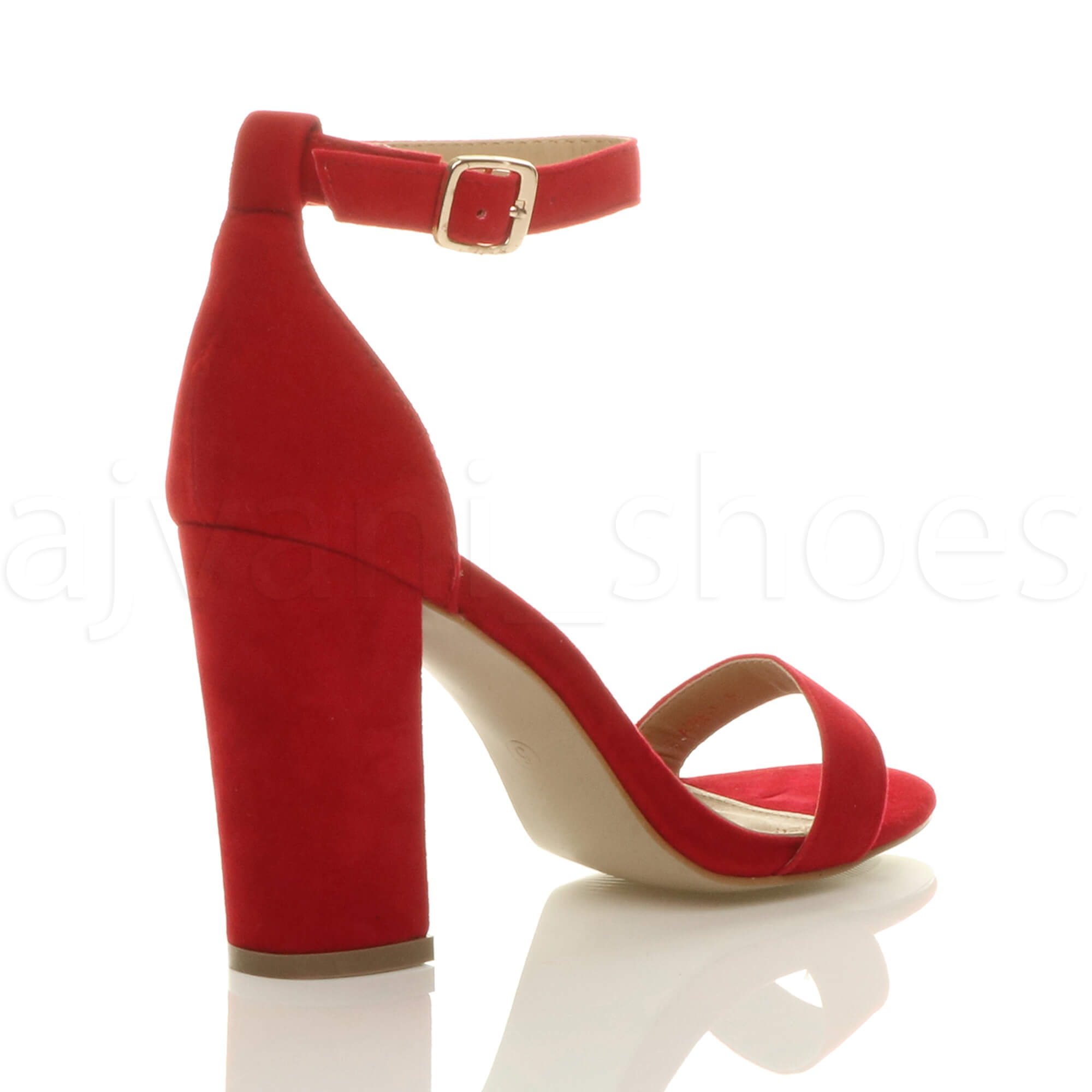WOMENS-LADIES-BLOCK-HIGH-HEEL-ANKLE-STRAP-PEEP-TOE-STRAPPY-SANDALS-SHOES-SIZE thumbnail 119