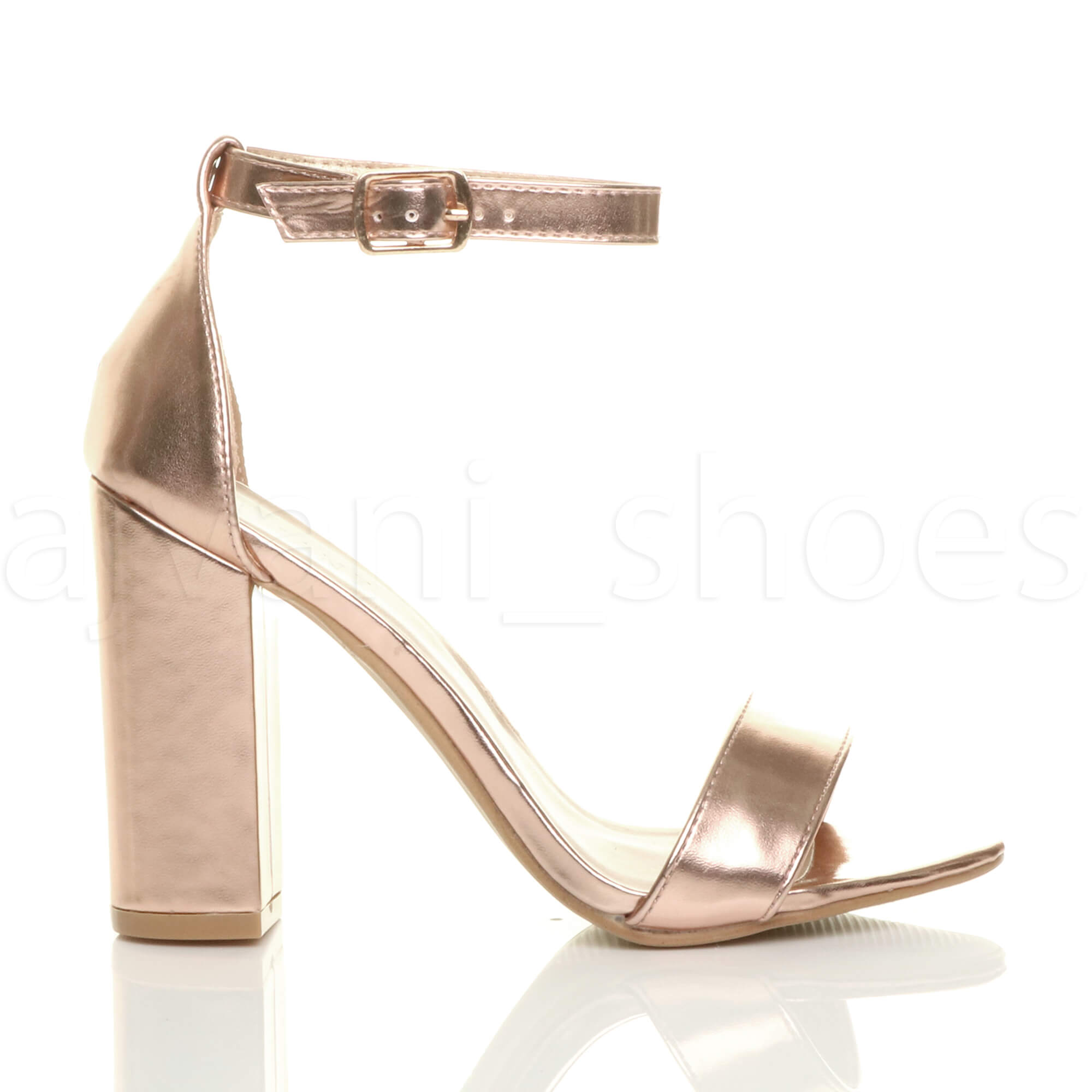 WOMENS-LADIES-BLOCK-HIGH-HEEL-ANKLE-STRAP-PEEP-TOE-STRAPPY-SANDALS-SHOES-SIZE thumbnail 132