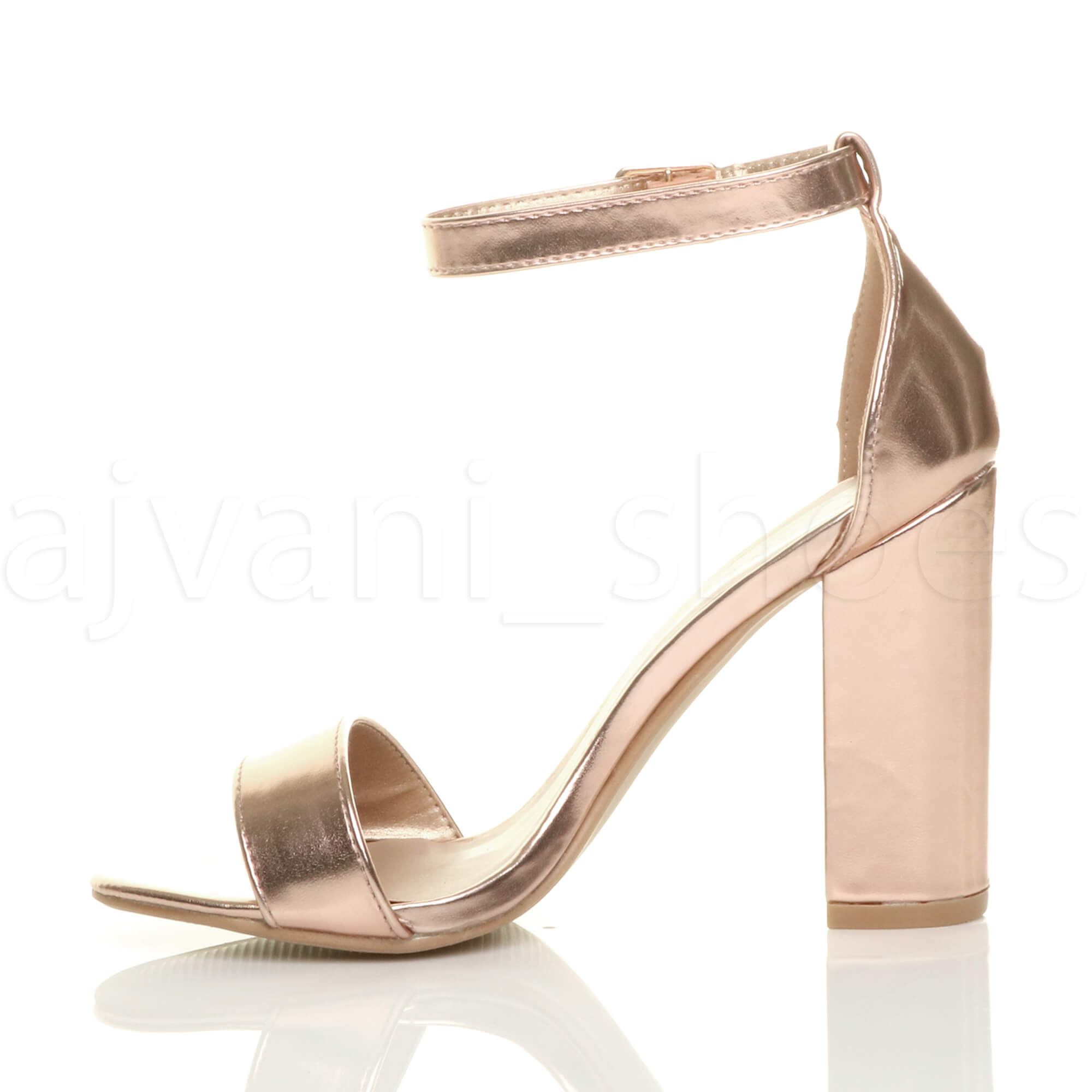 WOMENS-LADIES-BLOCK-HIGH-HEEL-ANKLE-STRAP-PEEP-TOE-STRAPPY-SANDALS-SHOES-SIZE thumbnail 133