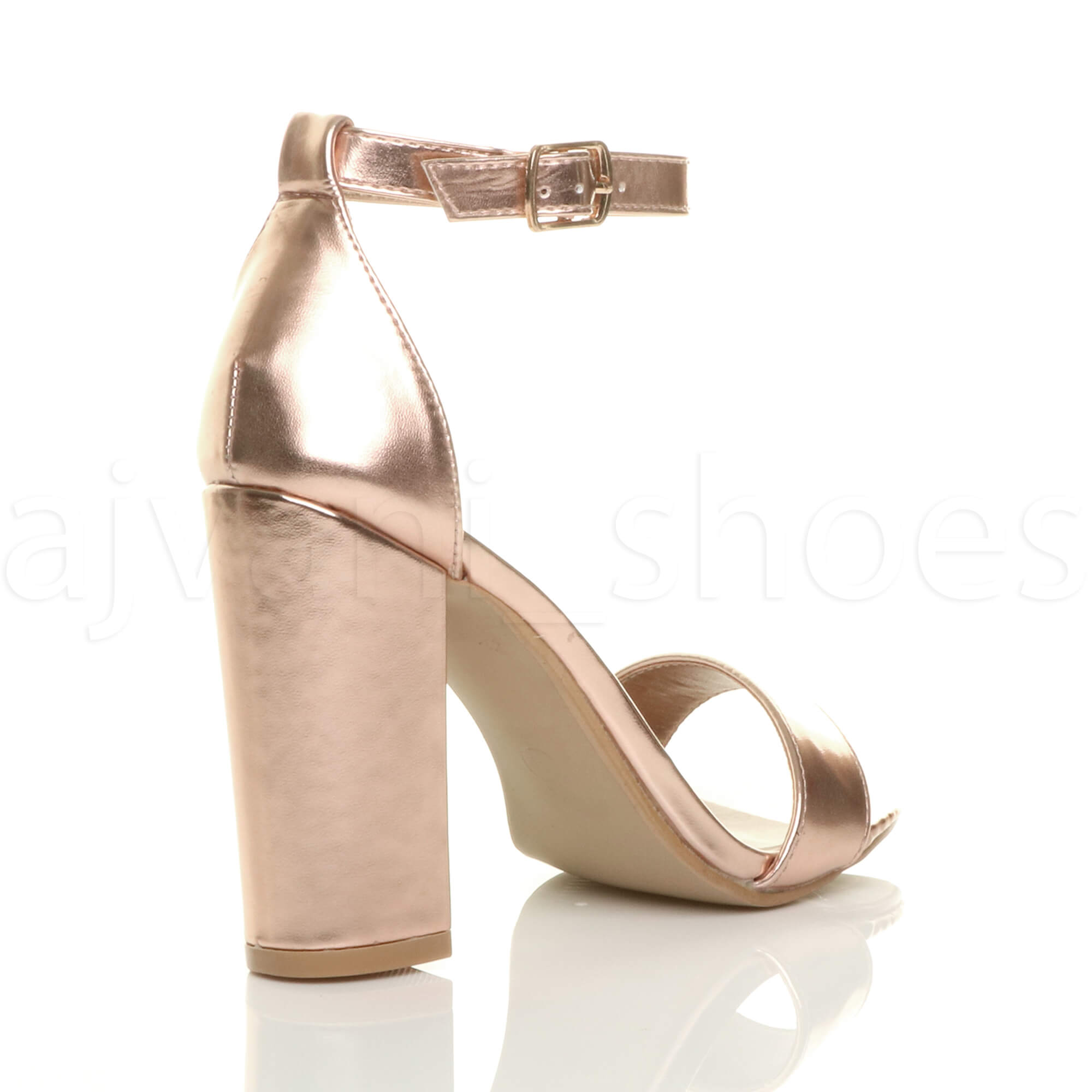 WOMENS-LADIES-BLOCK-HIGH-HEEL-ANKLE-STRAP-PEEP-TOE-STRAPPY-SANDALS-SHOES-SIZE thumbnail 134