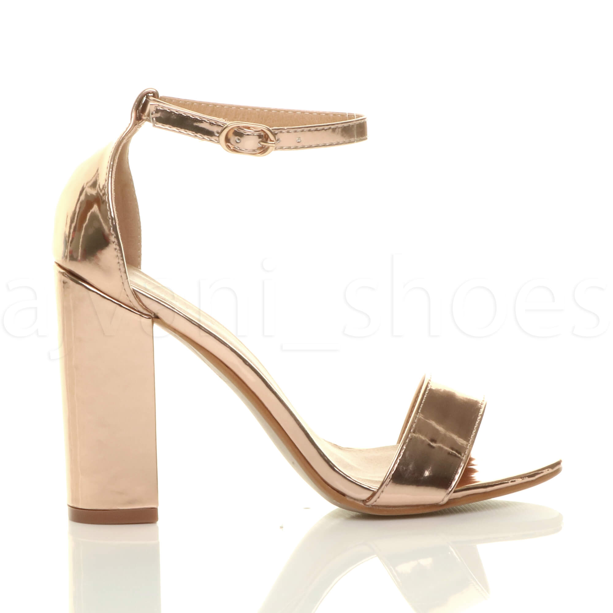 WOMENS-LADIES-BLOCK-HIGH-HEEL-ANKLE-STRAP-PEEP-TOE-STRAPPY-SANDALS-SHOES-SIZE thumbnail 140