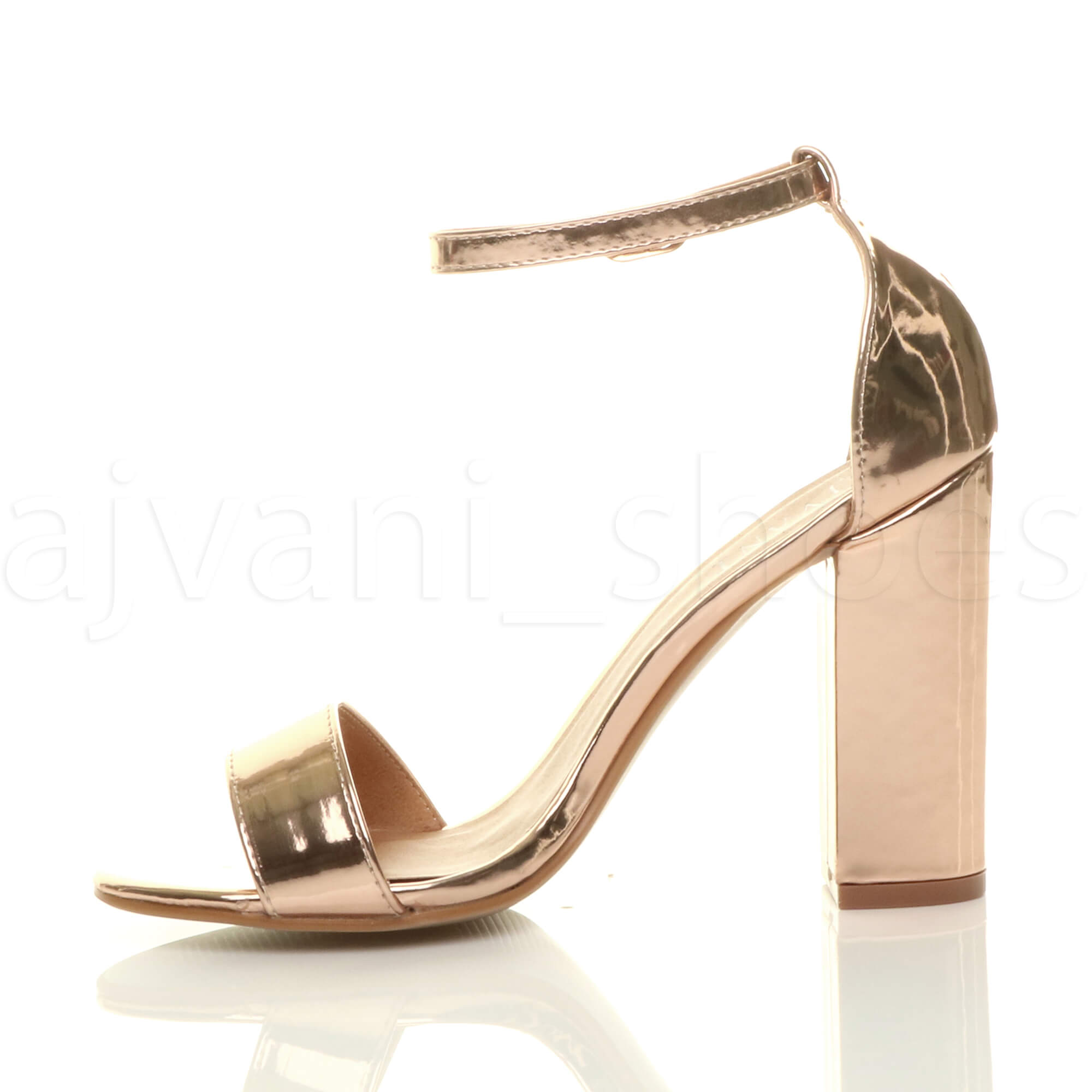 WOMENS-LADIES-BLOCK-HIGH-HEEL-ANKLE-STRAP-PEEP-TOE-STRAPPY-SANDALS-SHOES-SIZE thumbnail 141