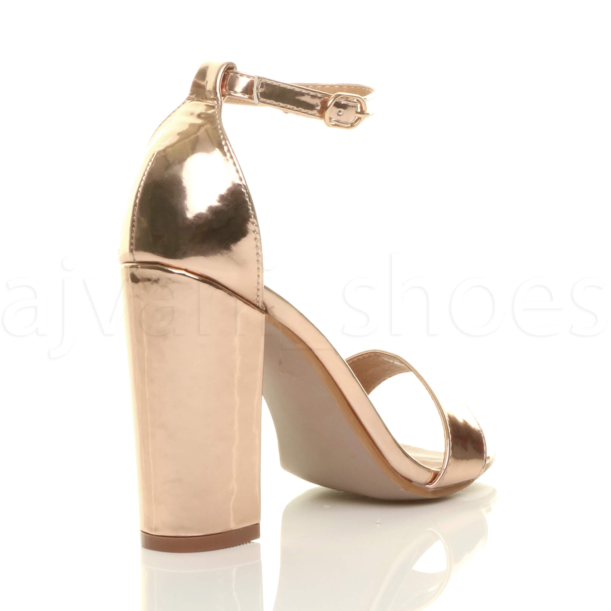 WOMENS-LADIES-BLOCK-HIGH-HEEL-ANKLE-STRAP-PEEP-TOE-STRAPPY-SANDALS-SHOES-SIZE thumbnail 142