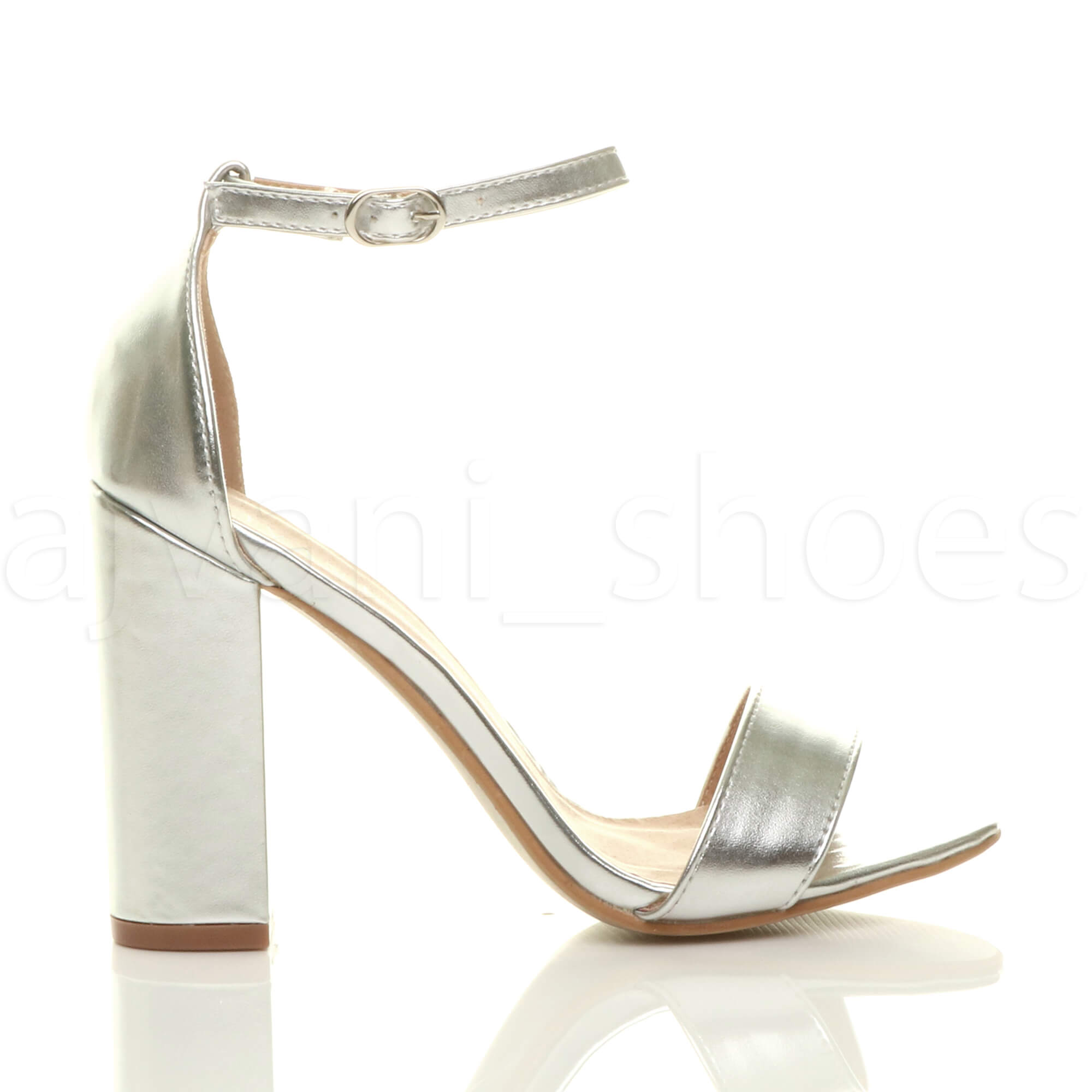 WOMENS-LADIES-BLOCK-HIGH-HEEL-ANKLE-STRAP-PEEP-TOE-STRAPPY-SANDALS-SHOES-SIZE thumbnail 147