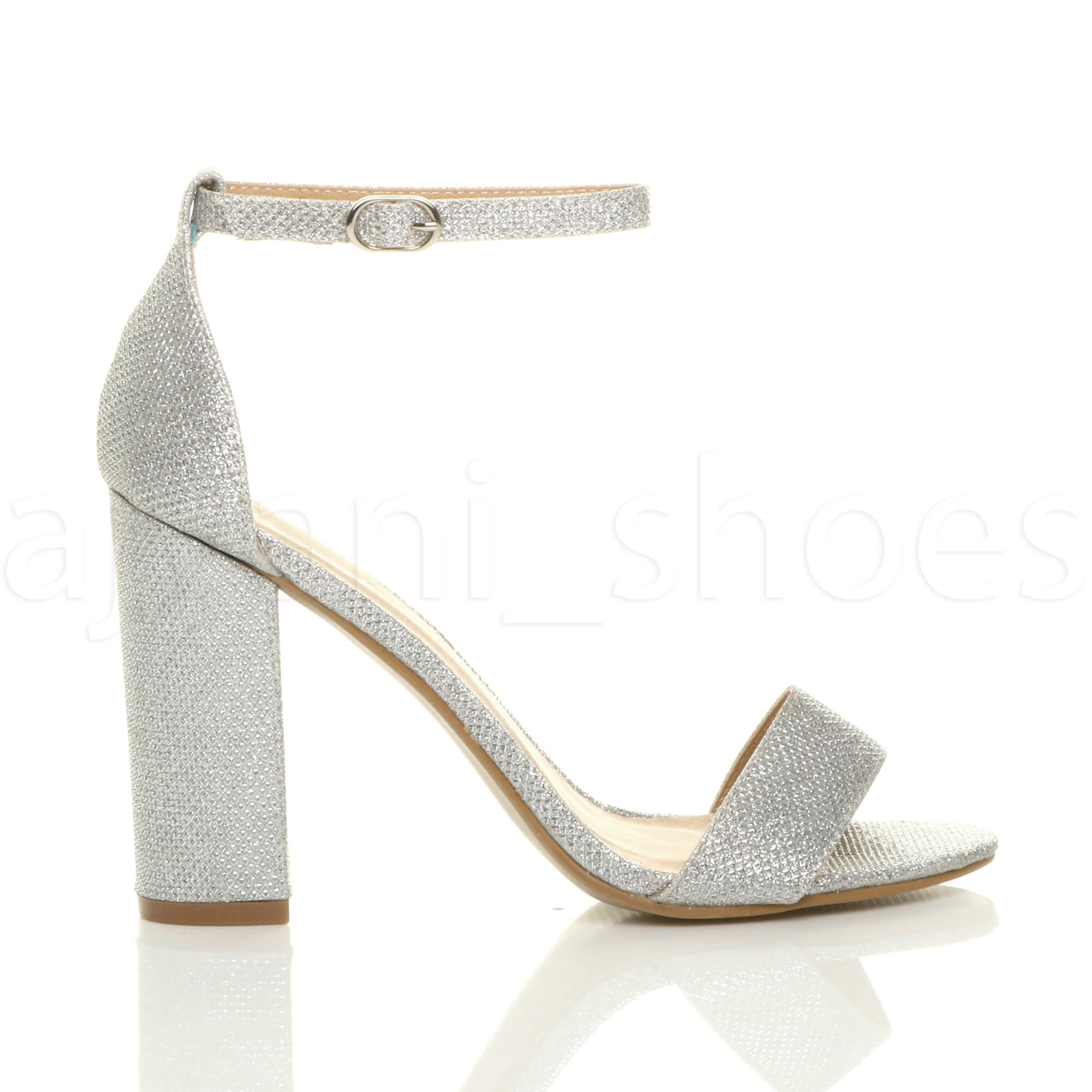 1e94c02f547f WOMENS LADIES BLOCK HIGH HEEL ANKLE STRAP PEEP TOE STRAPPY .