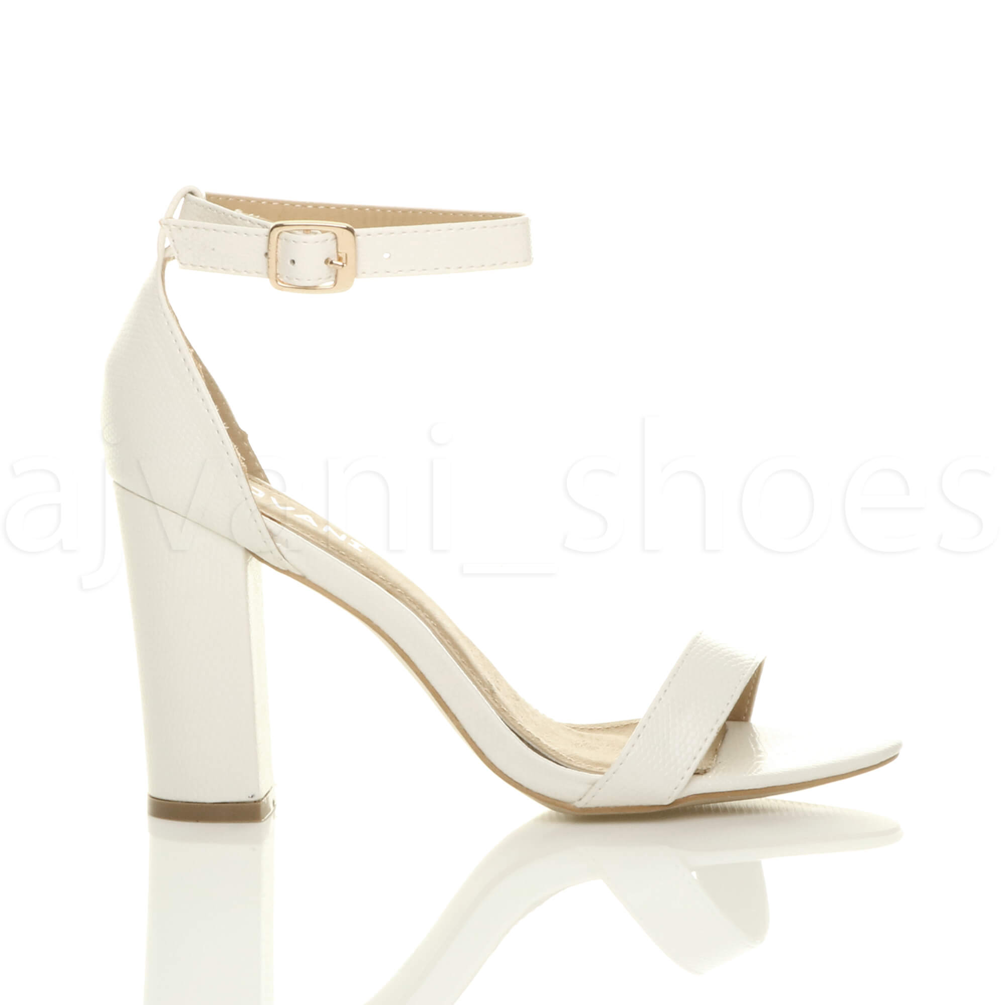 WOMENS-LADIES-BLOCK-HIGH-HEEL-ANKLE-STRAP-PEEP-TOE-STRAPPY-SANDALS-SHOES-SIZE thumbnail 161